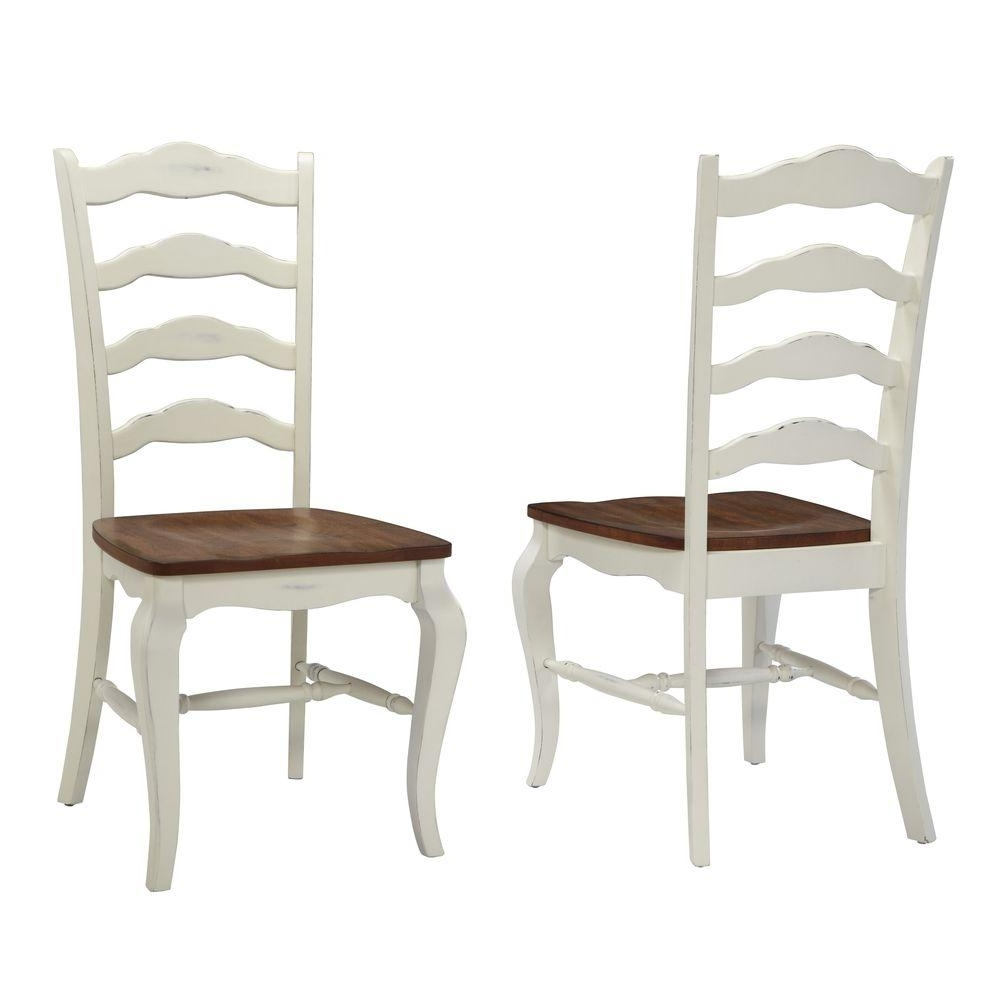 Most Recently Released Carmel Oak Side Chairs For Home Styles French Countryside Rubbed White Oak Dining Chair (Set Of (View 18 of 20)