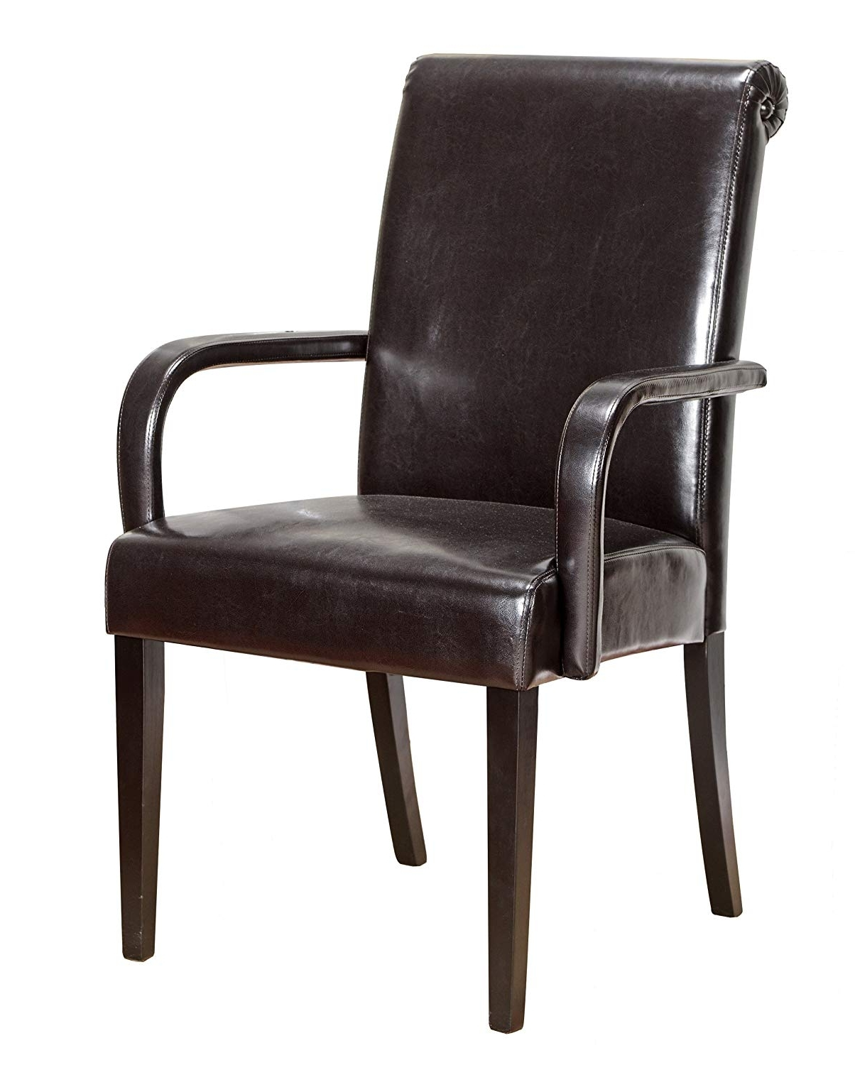 Most Recently Released Grady Side Chairs Throughout Amazon: King's Brand Set Of 2 Espresso Parson Chairs With Arms (View 16 of 20)