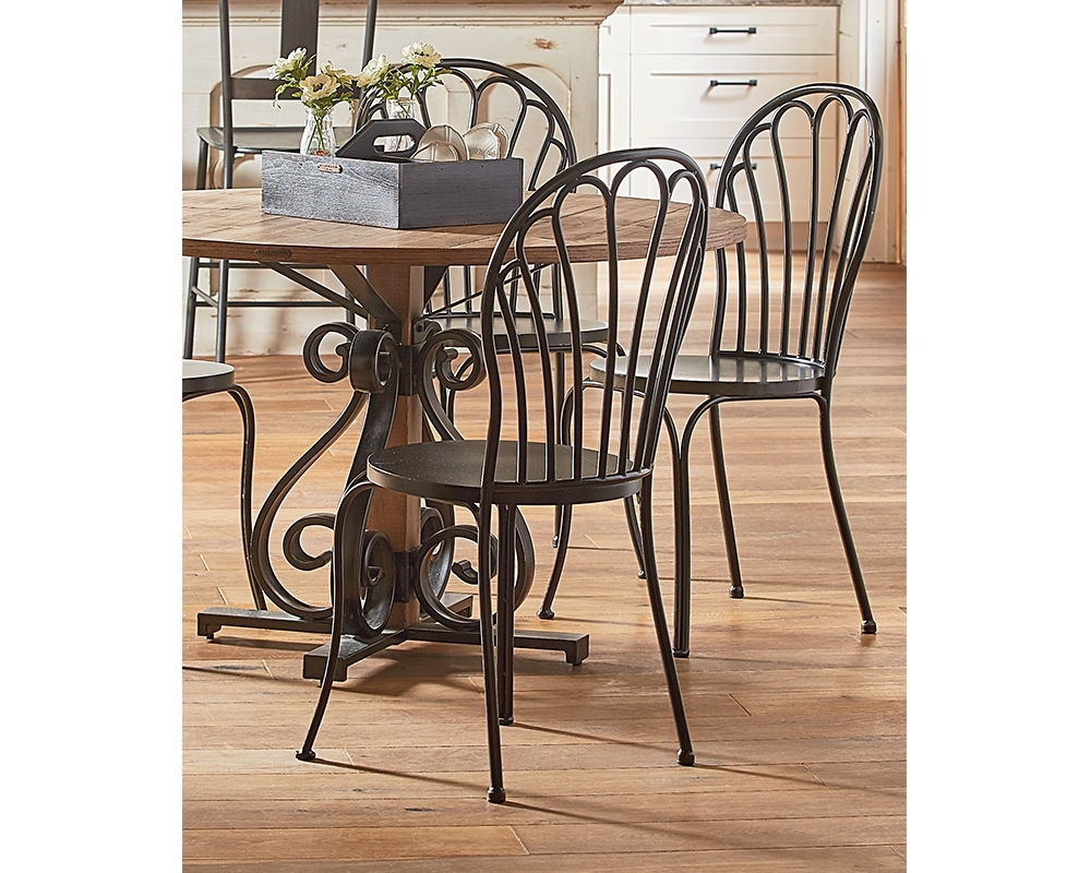 Featured Photo of Magnolia Home Peacock Blackened Bronze Metal Side Chairs