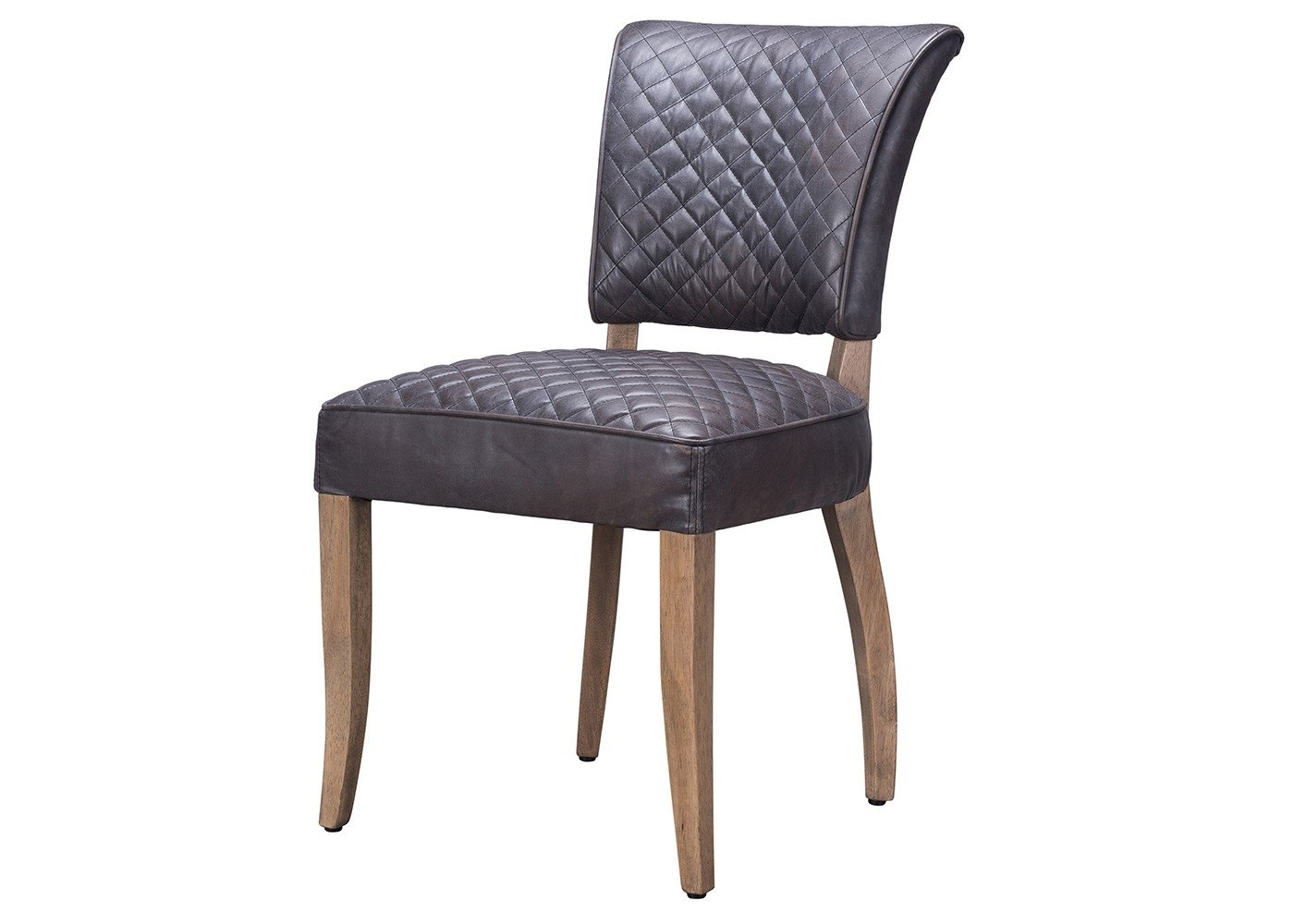 Most Recently Released Timothy Oulton Mimi Quilt Dining Chair Destroyed Black Leather (View 13 of 20)