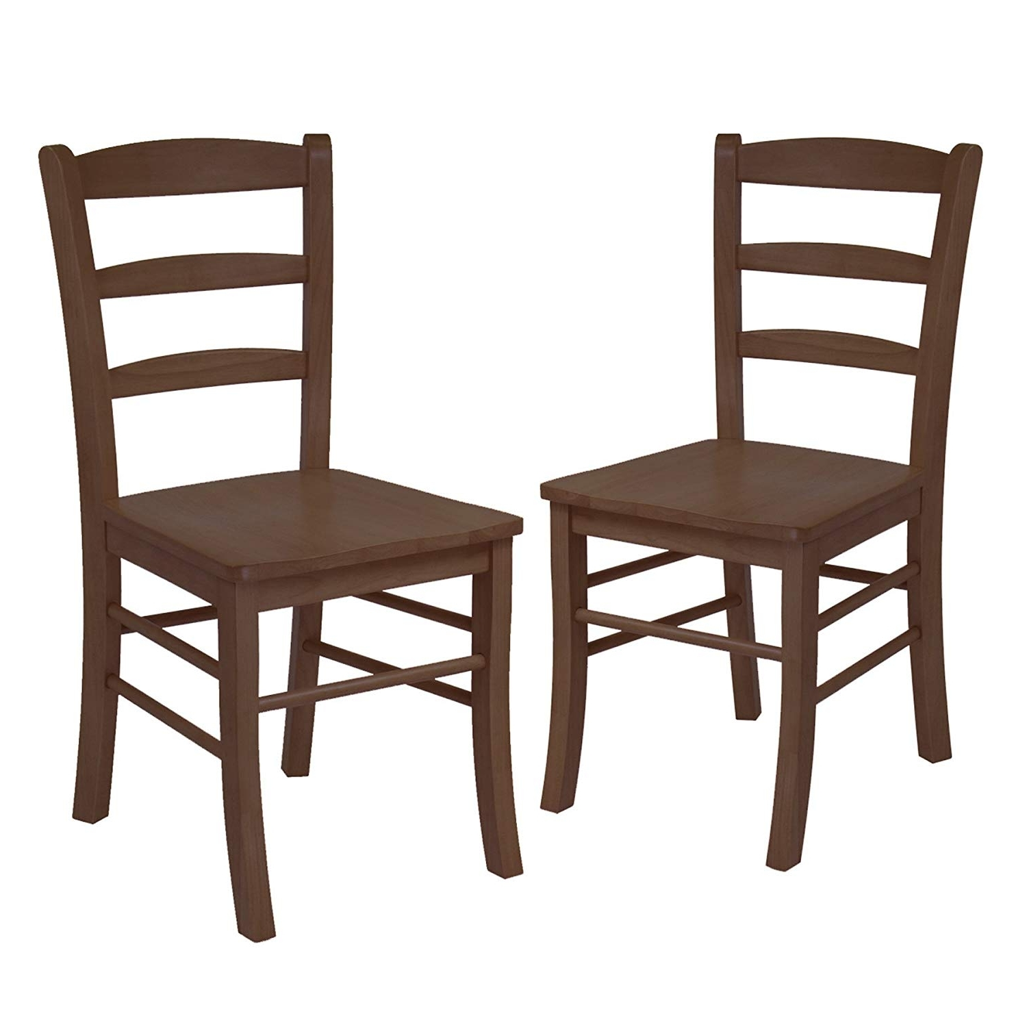 Most Up To Date Amazon: Winsome Wood 34232 Benjamin Seating, Natural: Kitchen In Natural Brown Teak Wood Leather Dining Chairs (View 10 of 20)