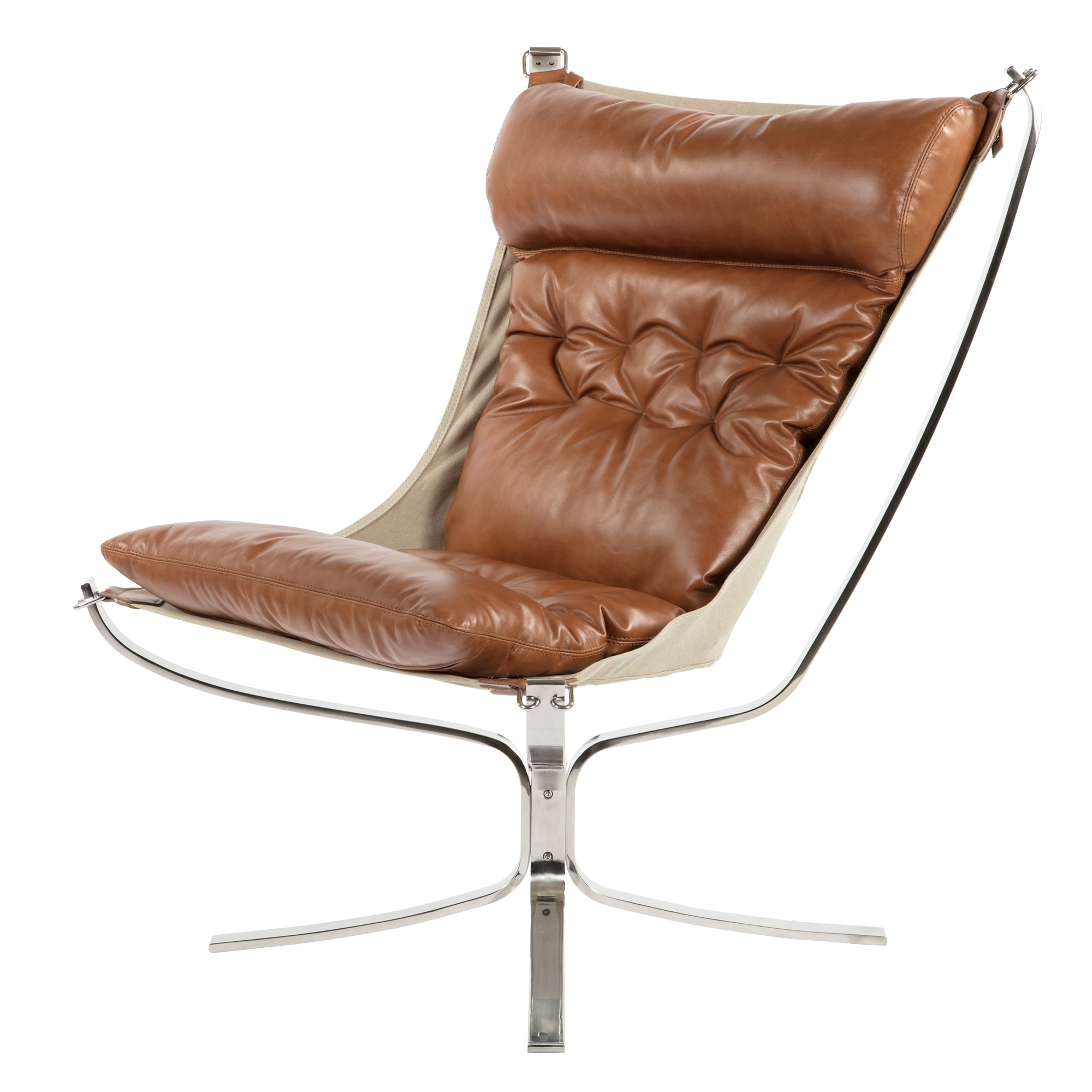 Most Up To Date Bowery Ii Side Chairs With Regard To Bowery Sling Chair – Cognac Premium Leather (View 17 of 20)