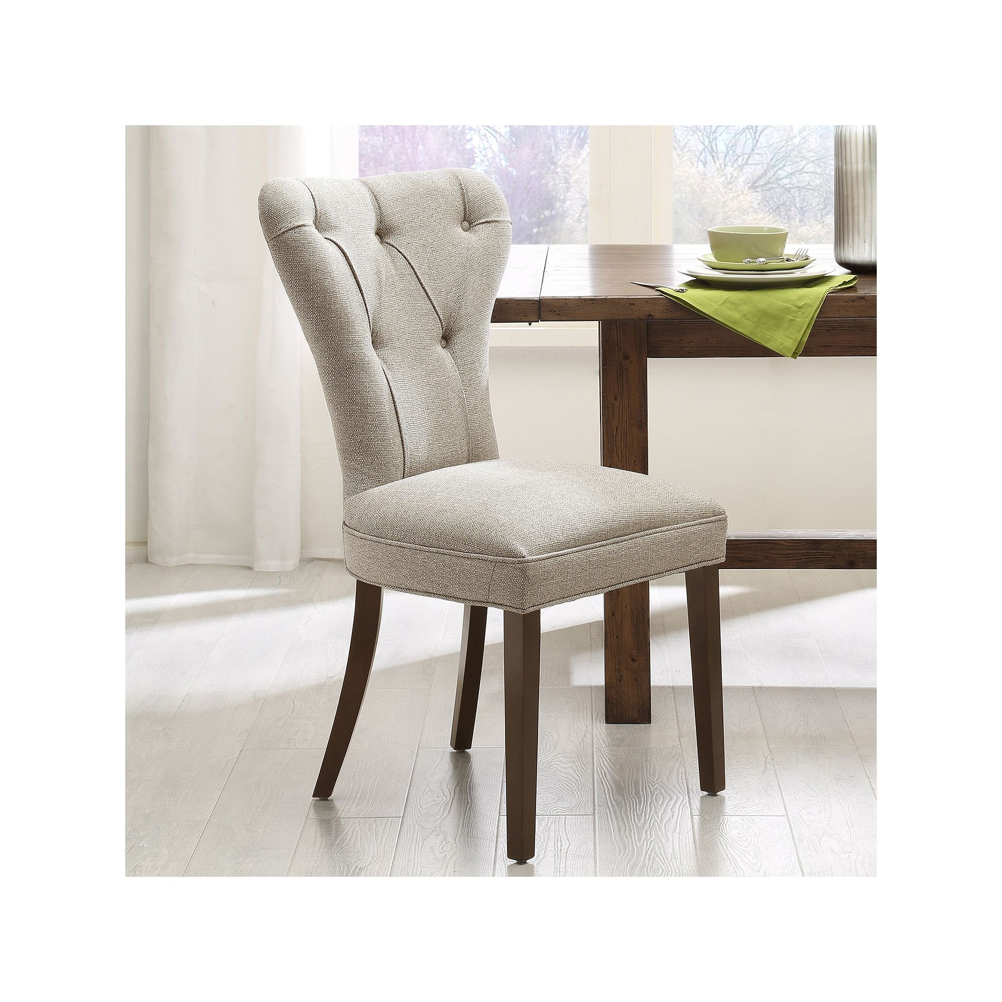 Most Up To Date Caden Side Chairs Within Madison Park 2 Piece Jocelyn Dining Chair Set, Beig/green (beig (View 13 of 20)