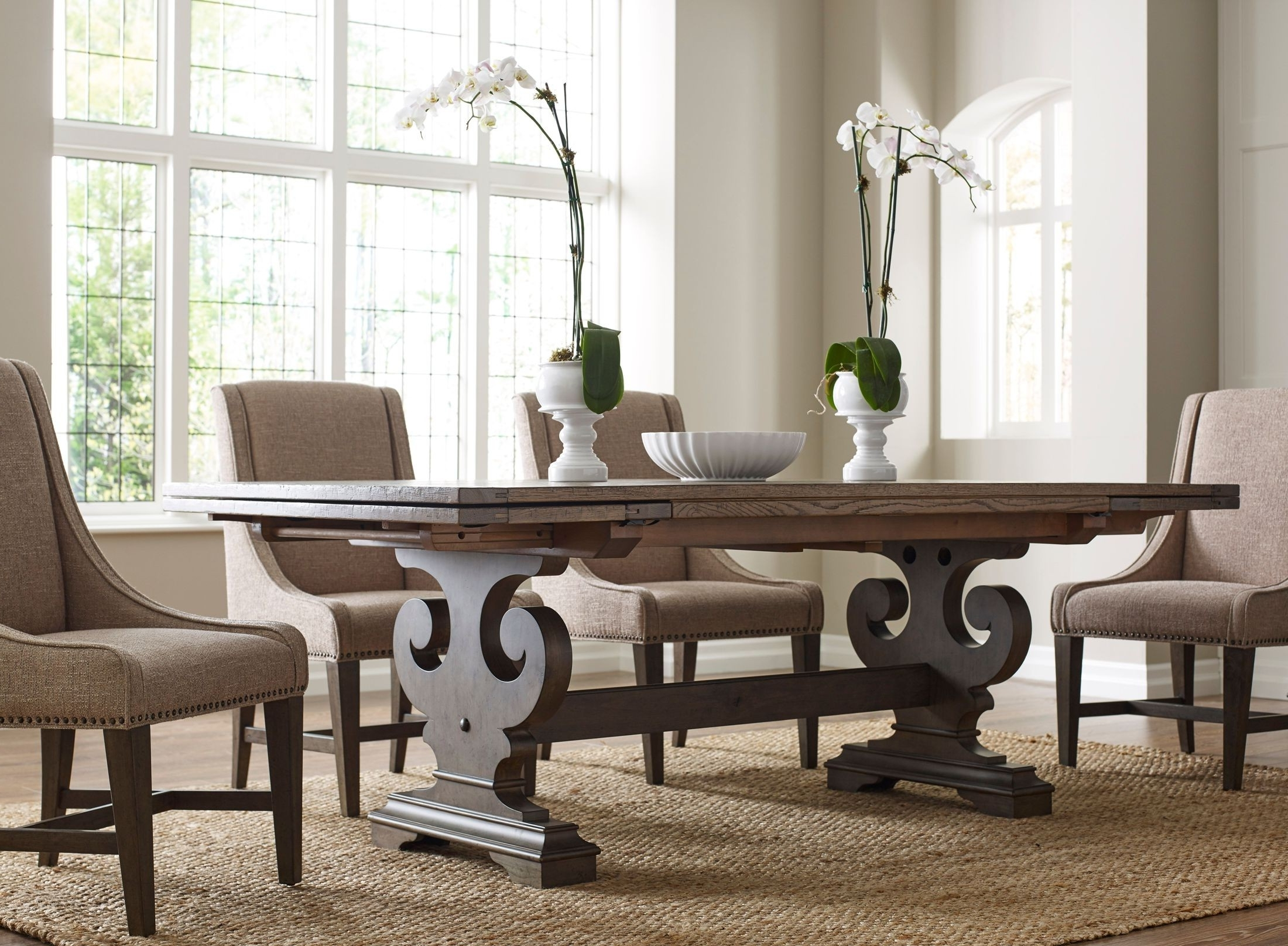 Most Up To Date Crawford Side Chairs Regarding Kincaid Greyson Crawford Refractory Extendable Dining Table (View 10 of 20)