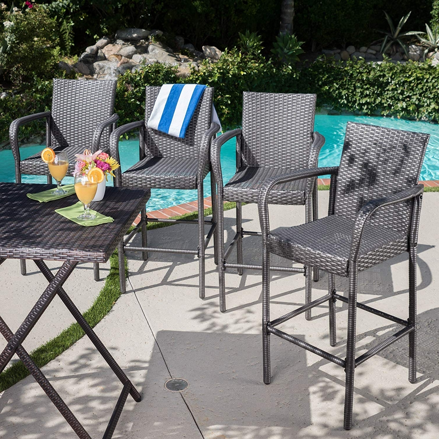 Most Up To Date Delfina Side Chairs Pertaining To Amazon: Christopher Knight Home 301205 Delfina Outdoor Wicker (View 16 of 20)