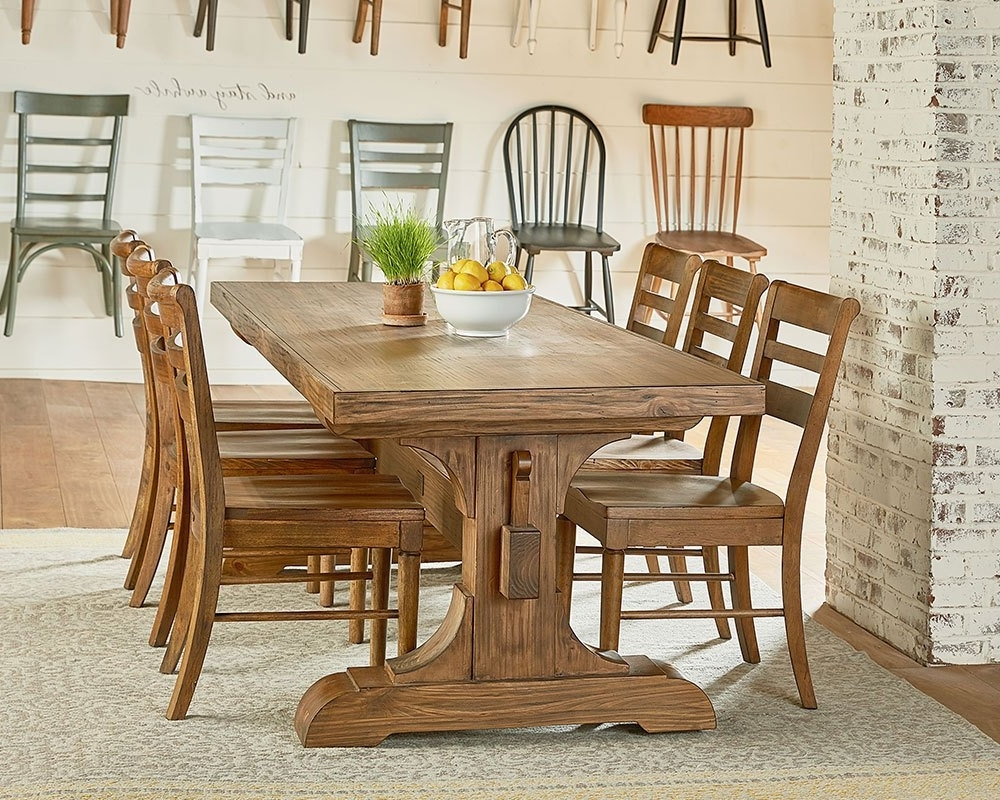 Most Up To Date Keyed Trestle + Kempton – Magnolia Home In Magnolia Home Kempton Bench Side Chairs (View 4 of 20)