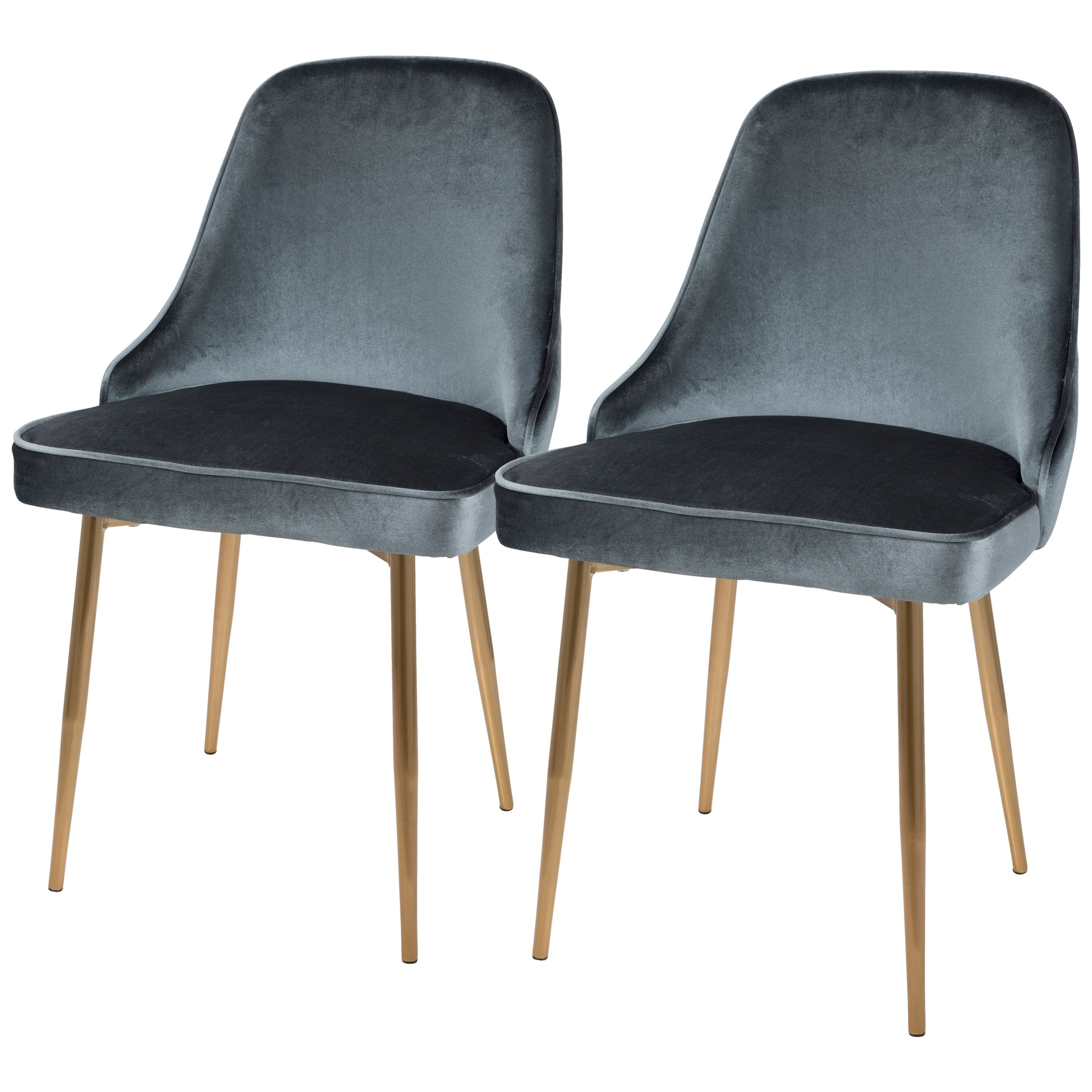 Most Up To Date Shop Lumisource Marcel Contemporary Dining Chair (set Of 2) – Free Inside Pilo Grey Side Chairs (View 6 of 20)