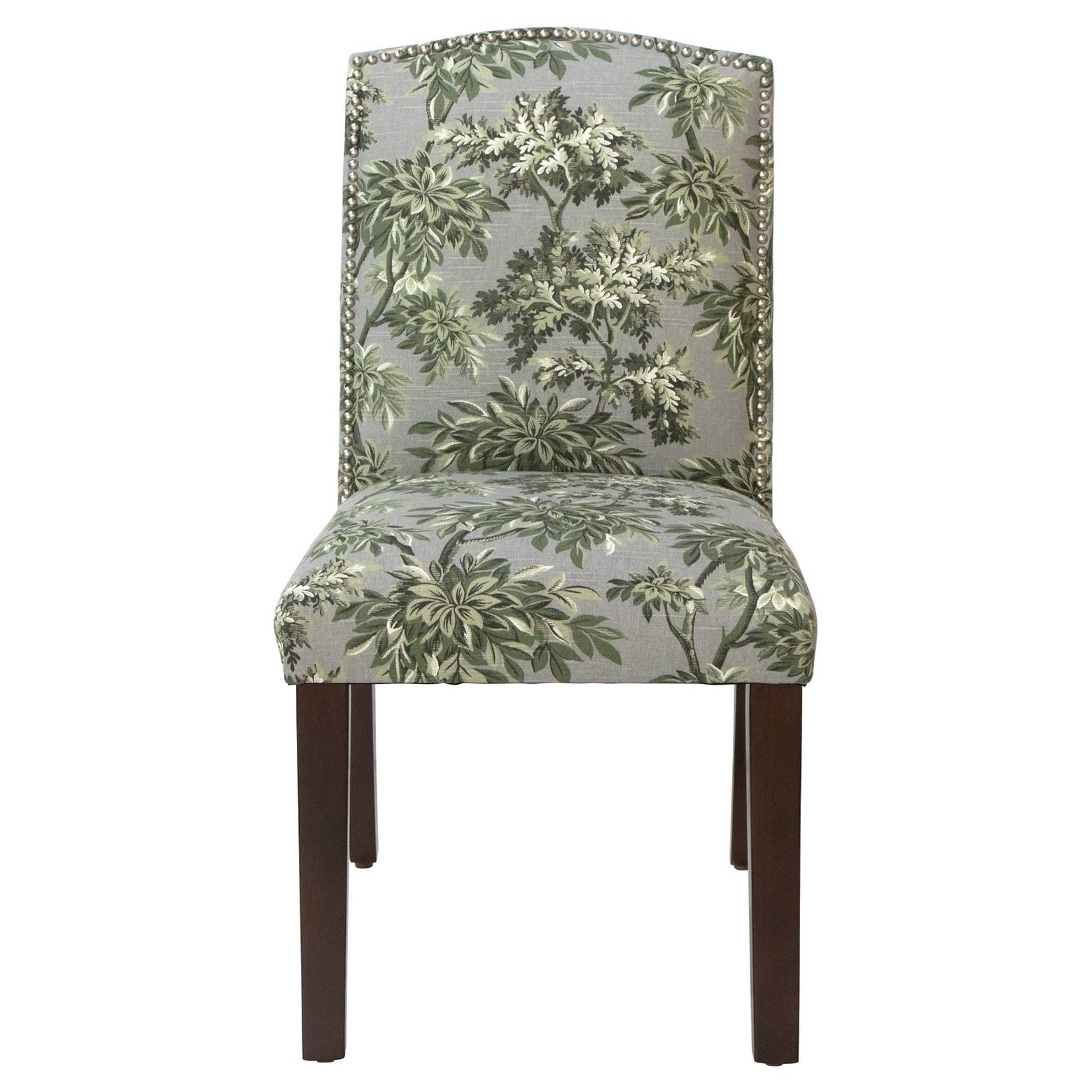 Nail Button Arched Dining Chair – Sylvan Toile Greystone – Skyline Within Current Norwood Upholstered Side Chairs (View 18 of 20)