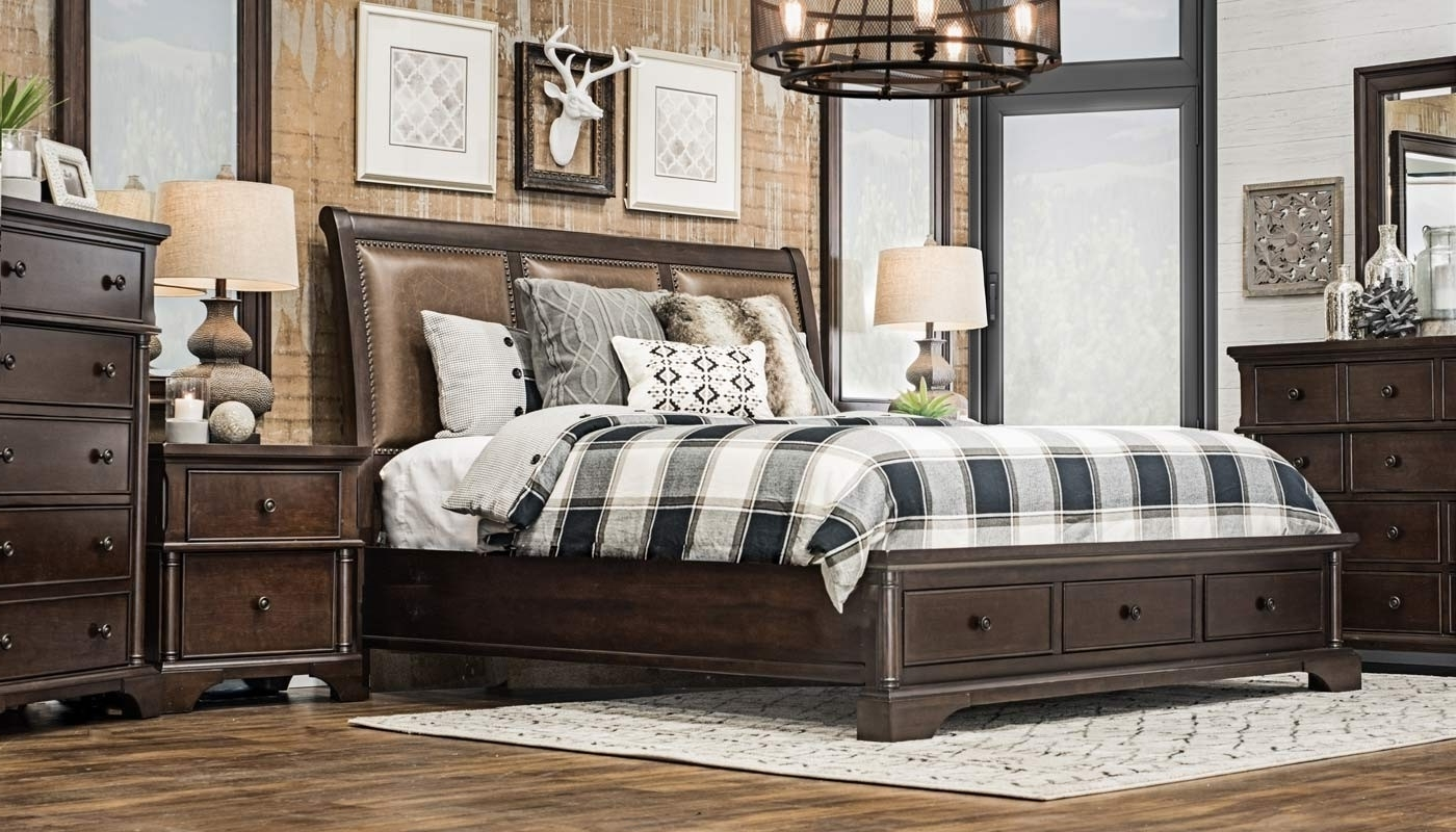 Newest Caira 6 Piece Collection – Home Zone Furniture (View 16 of 20)