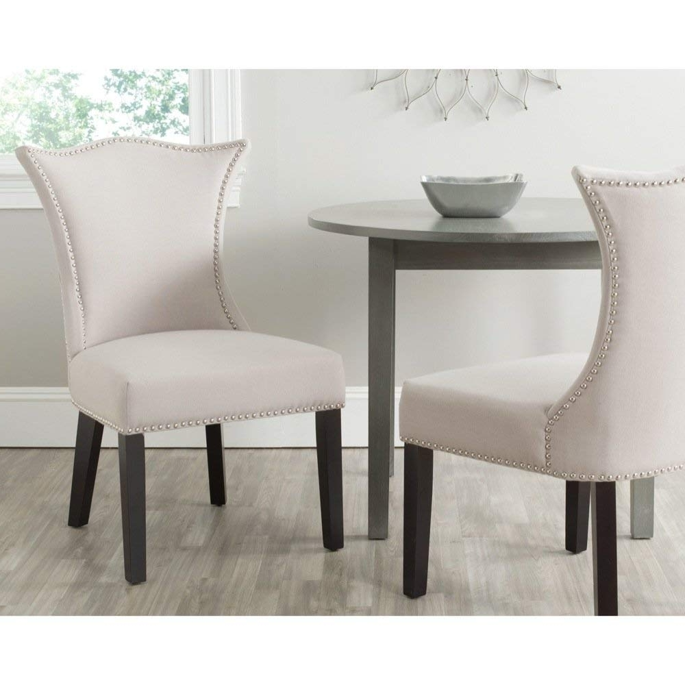 Newest Caira Black Upholstered Side Chairs Intended For Amazon – Safavieh Mercer Collection Ciara Side Chair, Taupe, Set (View 16 of 20)