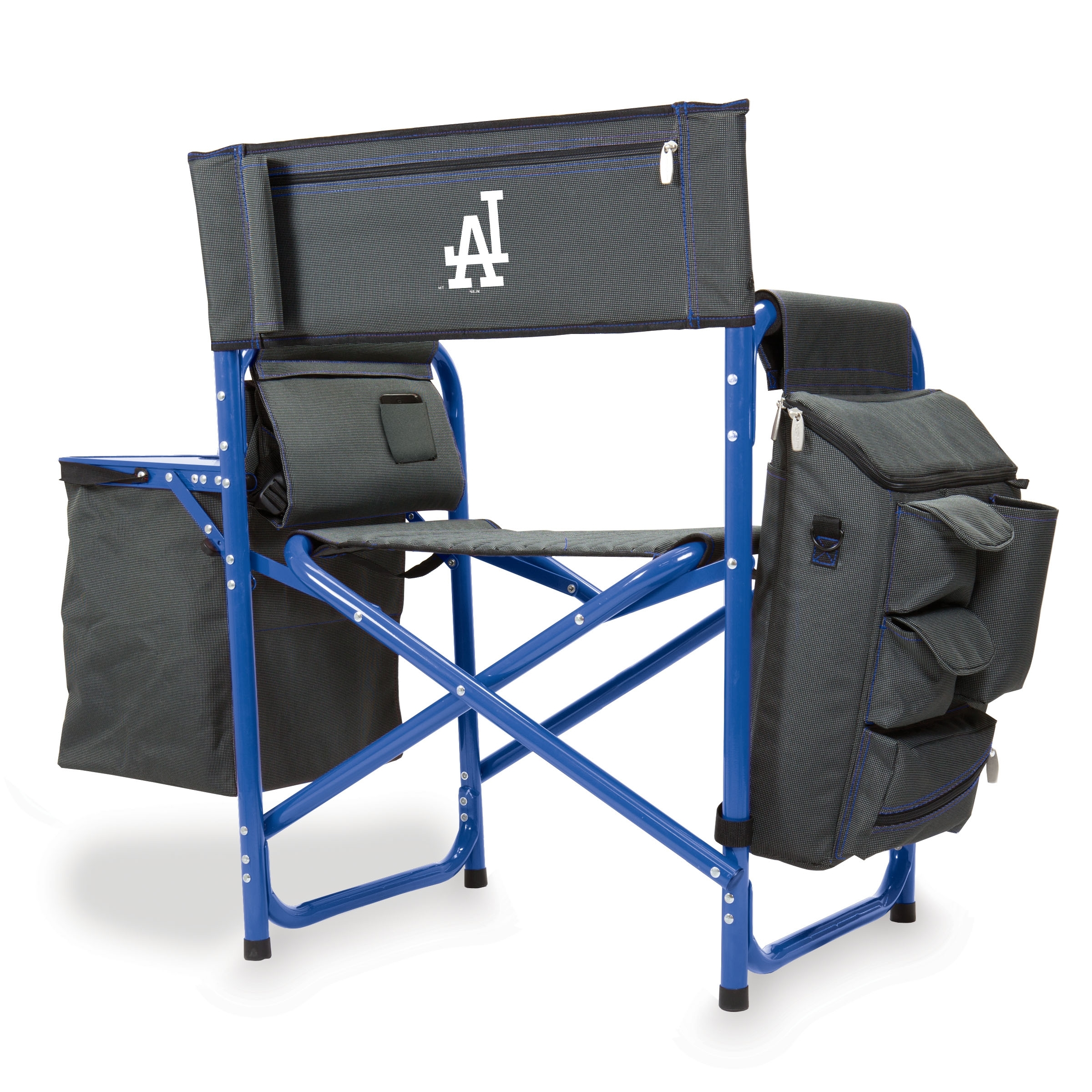 Newest Dodger Side Chairs With Regard To Fusion Chair Dark Grey/blue (Los Angeles Dodgers) Digital Print (Gallery 12 of 20)