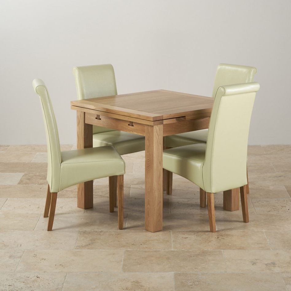 Newest Furniture Natural Solid Oak Ft Quot Dining Table With Cream Teak Within Natural Brown Teak Wood Leather Dining Chairs (Gallery 4 of 20)