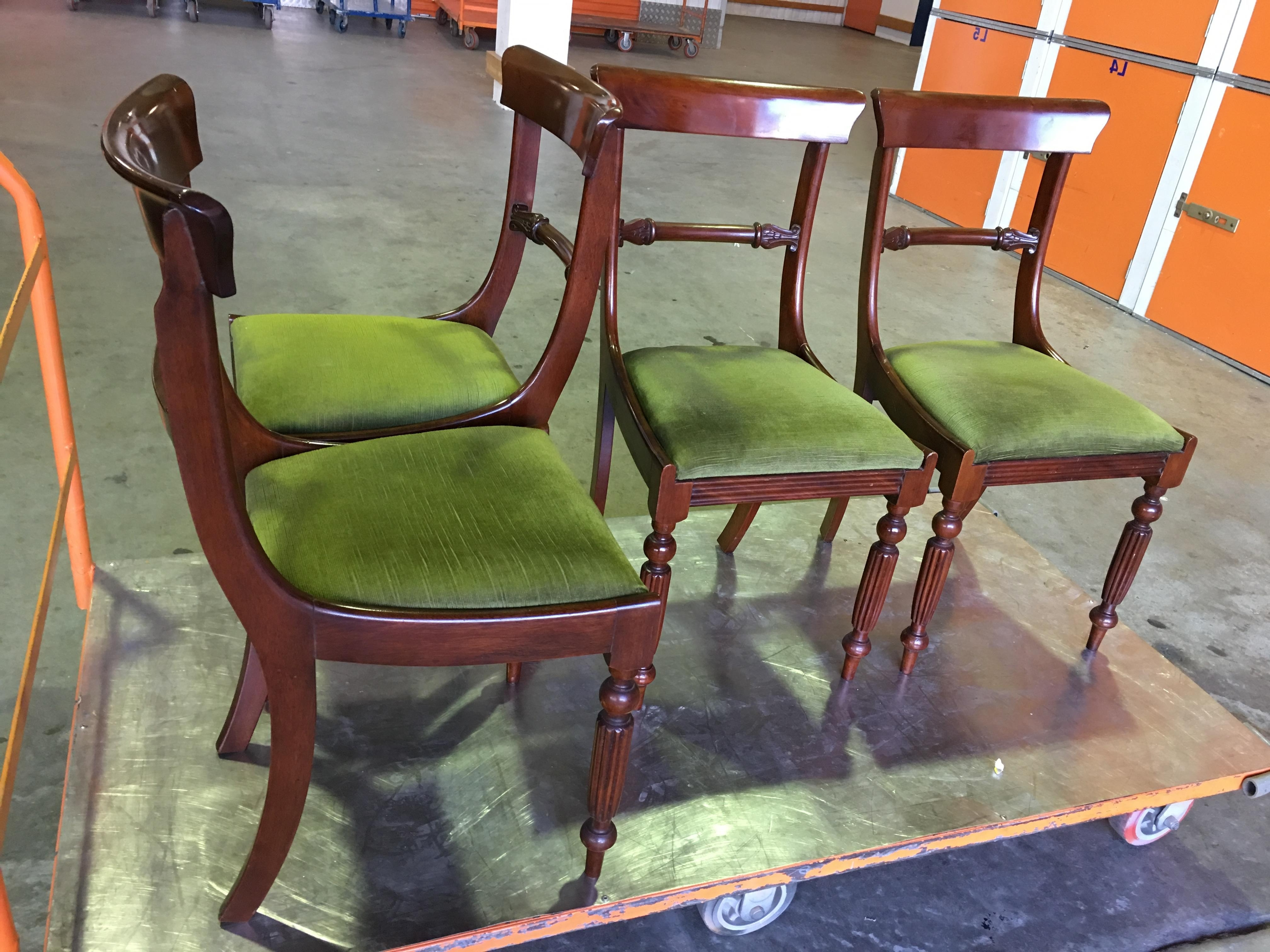 Newest Green Cedar Dining Chairs For Beautiful Set Of 4 Antique 19th Century English Cedar Rail Back (View 5 of 20)