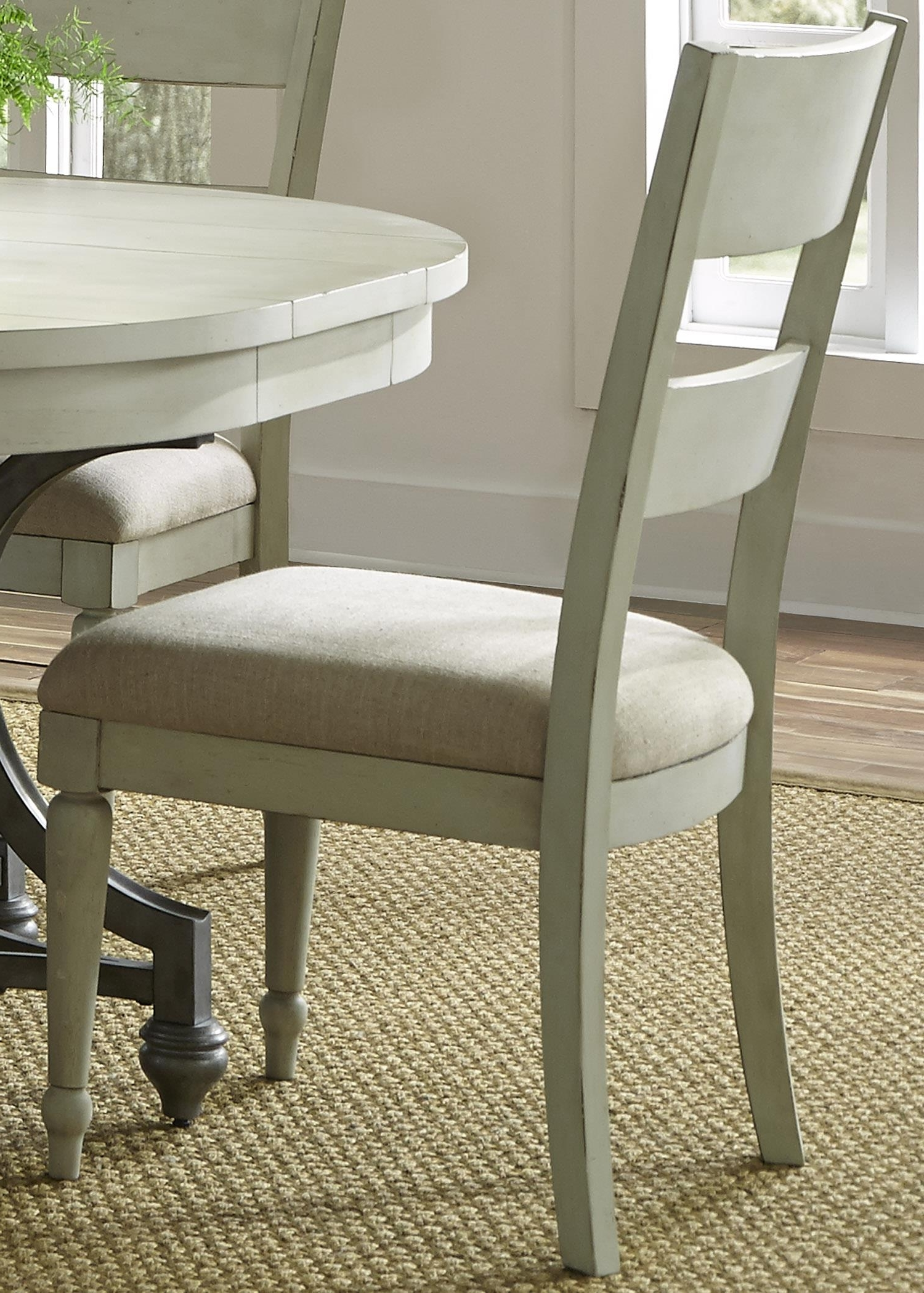 Newest Lindy Dove Grey Side Chairs Intended For Liberty Furniture Harbor View Dining Side Chair With Slat Back (Gallery 6 of 20)