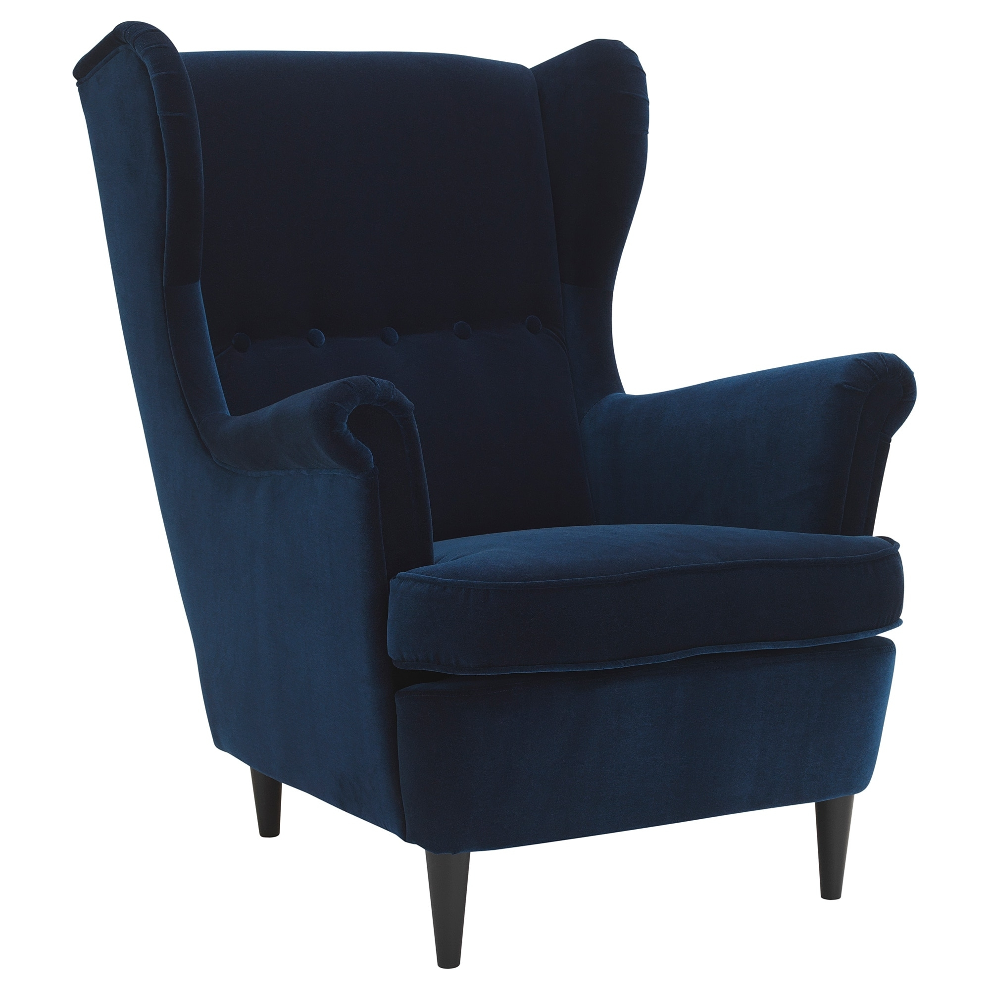 Newest Strandmon Wing Chair – Djuparp Dark Green Blue – Ikea With Pilo Blue Side Chairs (View 5 of 20)