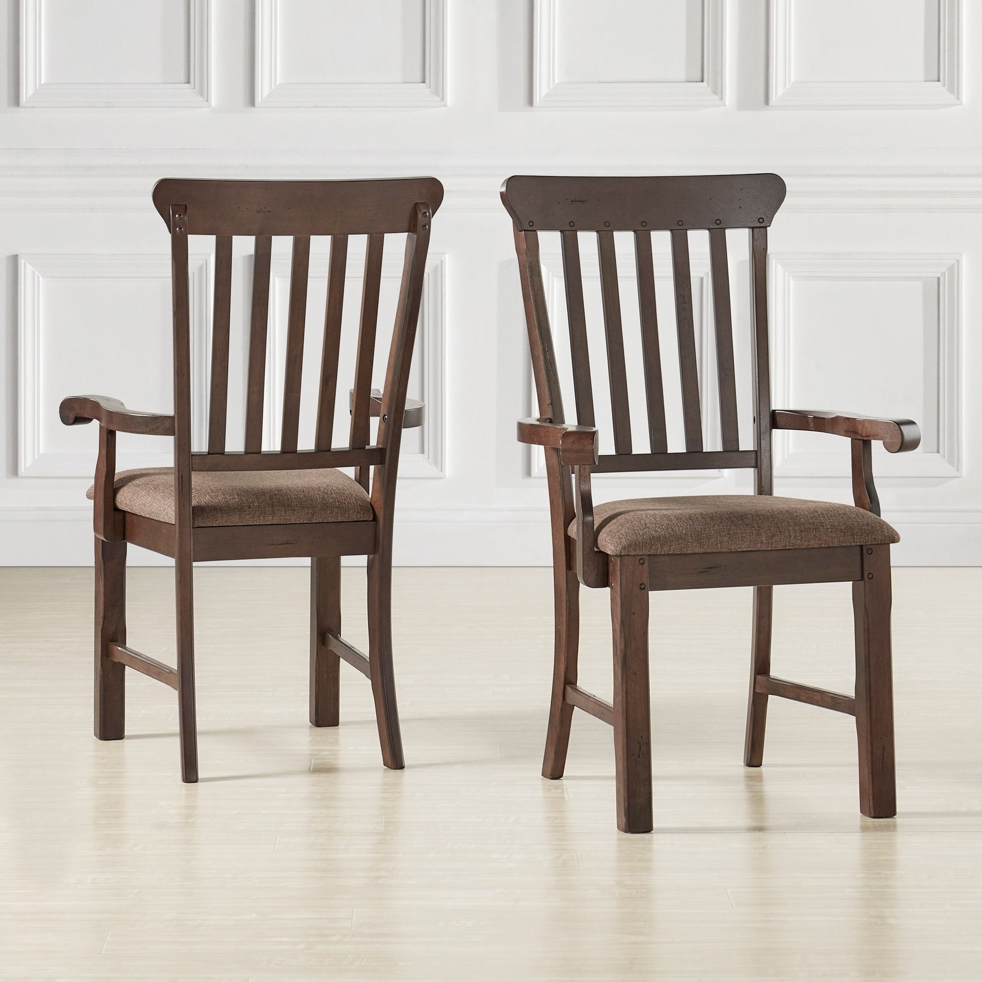 Norwood Rustic Dining Arm Chair (Set Of 2) (Arm Chair), Brown With Latest Norwood Upholstered Side Chairs (Gallery 2 of 20)