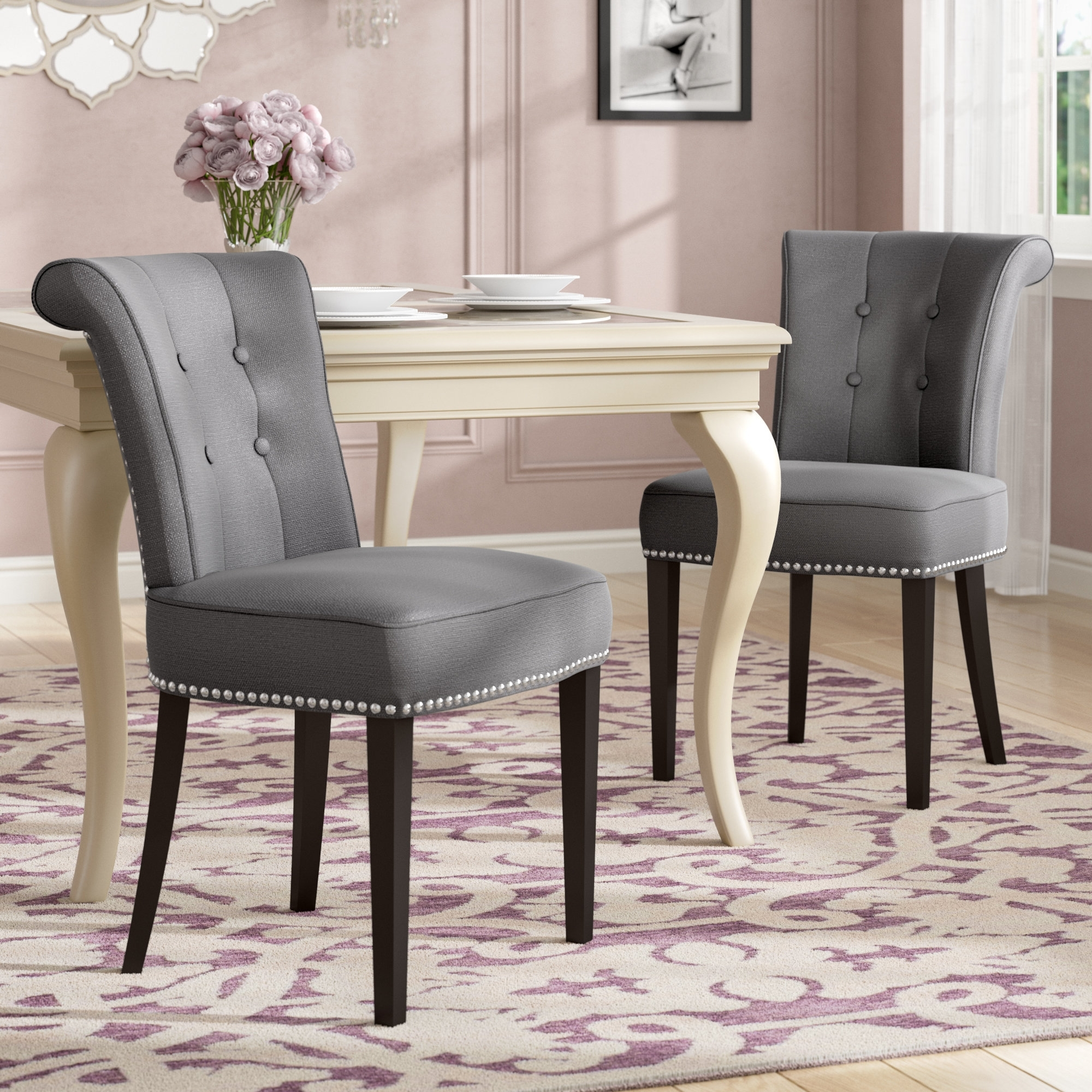Norwood Upholstered Side Chairs In Most Recent House Of Hampton Florentine Side Chair & Reviews (View 8 of 20)
