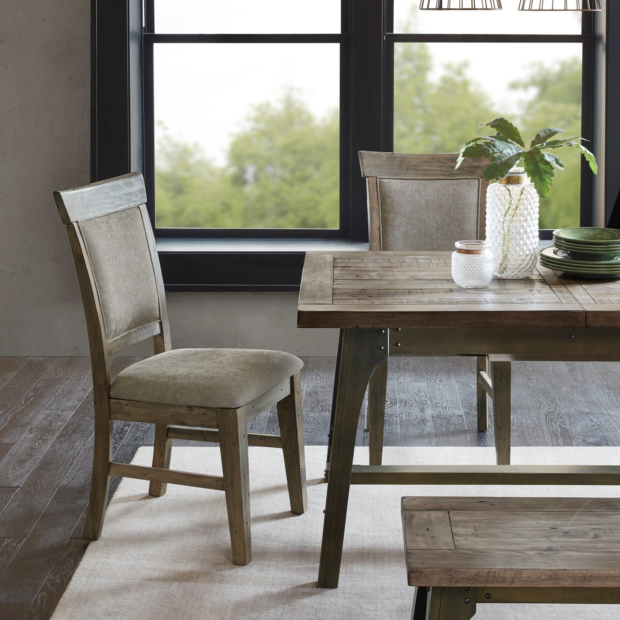 Oliver Side Chairs Regarding Most Popular Shop Ink Ivy Oliver Natural/grey Dining Side Chair(Set Of 2Pcs (Gallery 9 of 20)