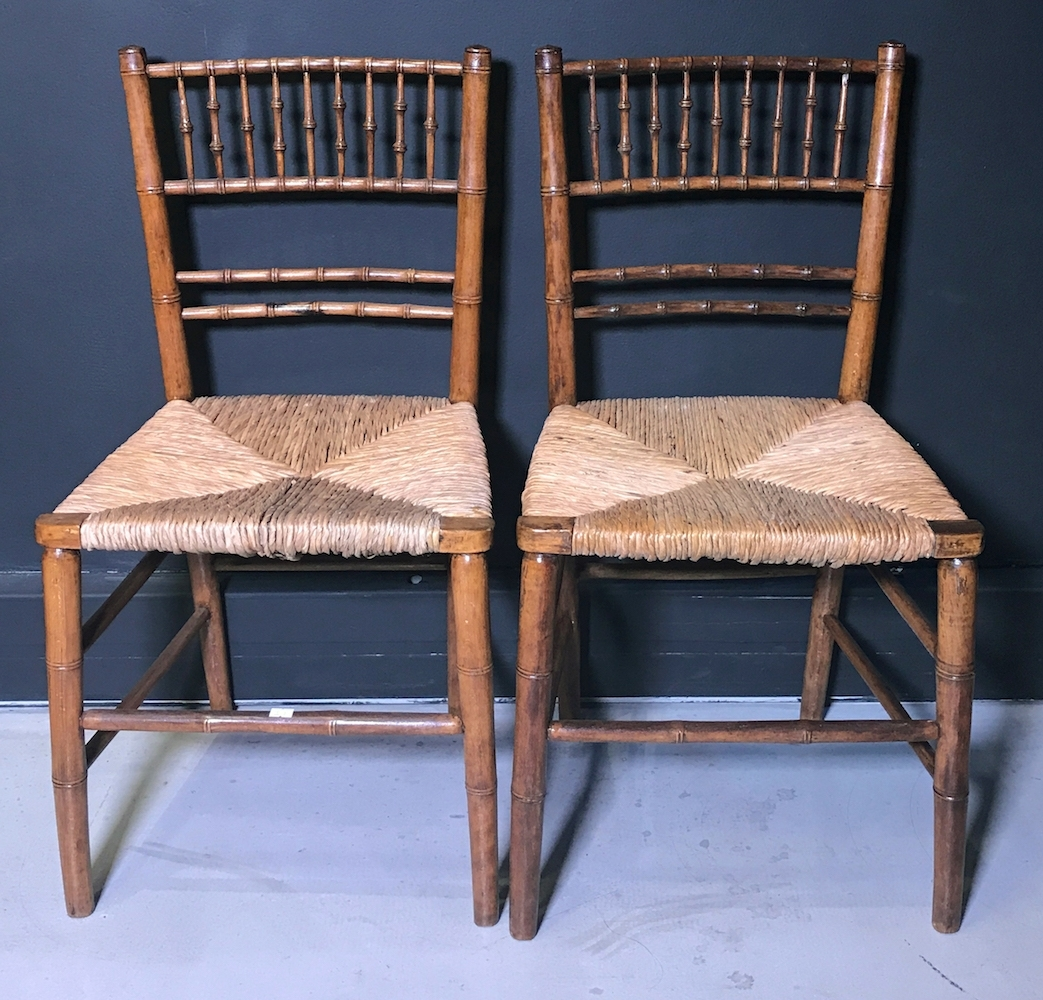 Omni Side Chairs Throughout Recent A Pair Of Faux Bamboo Side Chairs, Early 20Th Century, – Omni Fine (Gallery 9 of 20)