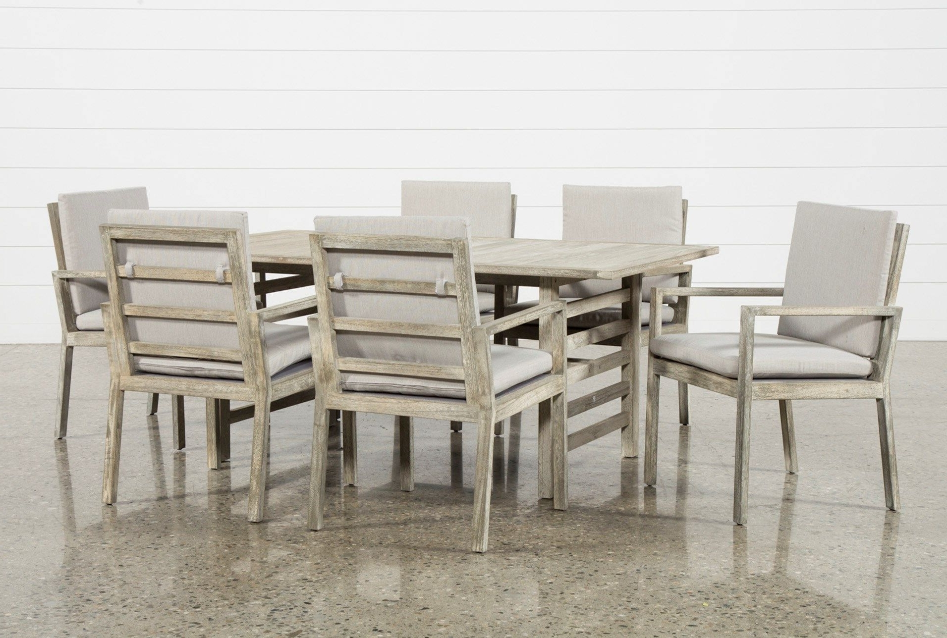 Outdoor Pompeii 7 Piece Dining Set, Grey (View 14 of 20)