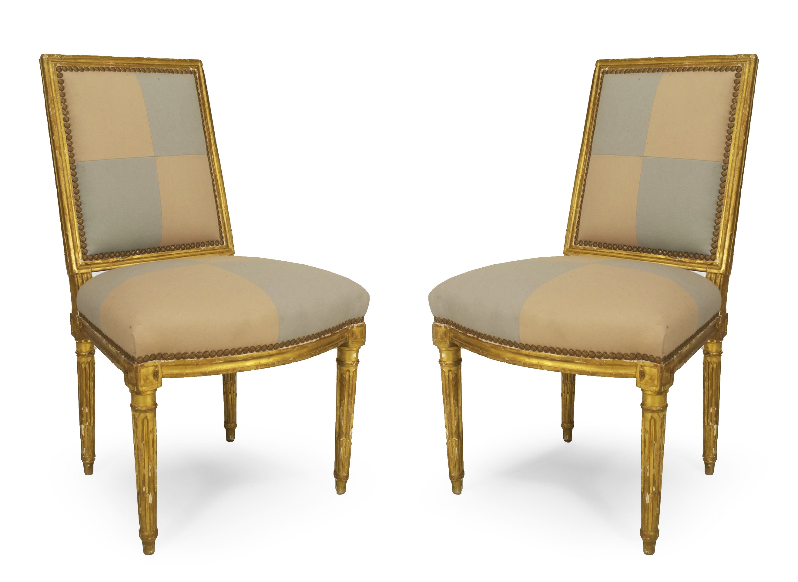 Pair Of French Louis Xvi (18th Cent) Gilt Side Chairs With Square With Most Up To Date Amos Side Chairs (View 13 of 20)