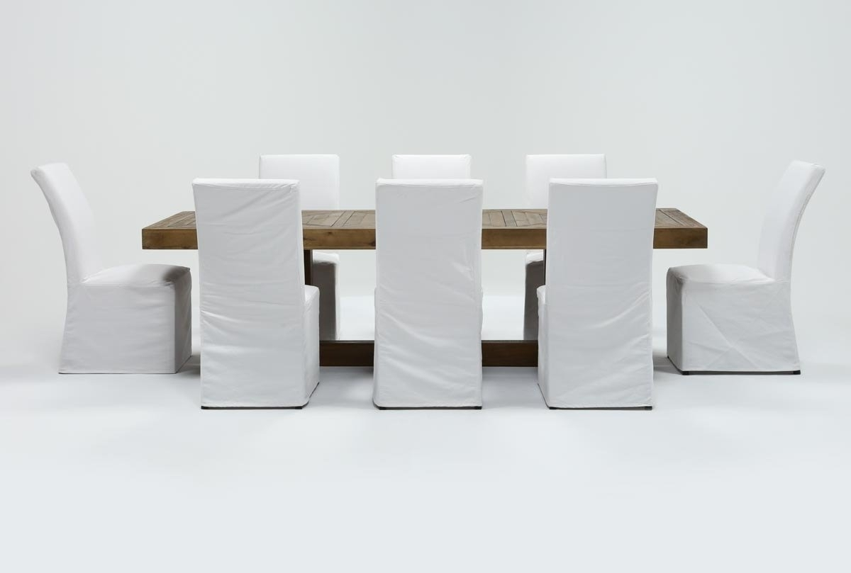 Featured Photo of Pearson White Slipcovered Side Chairs