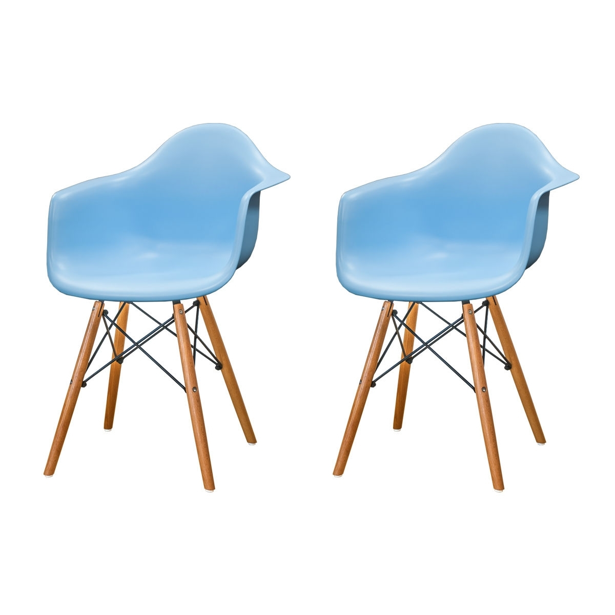 Paris Tower Arm Chair Wood Mm Pc 018W Blue Within Latest Mod Ii Arm Chairs (View 5 of 20)