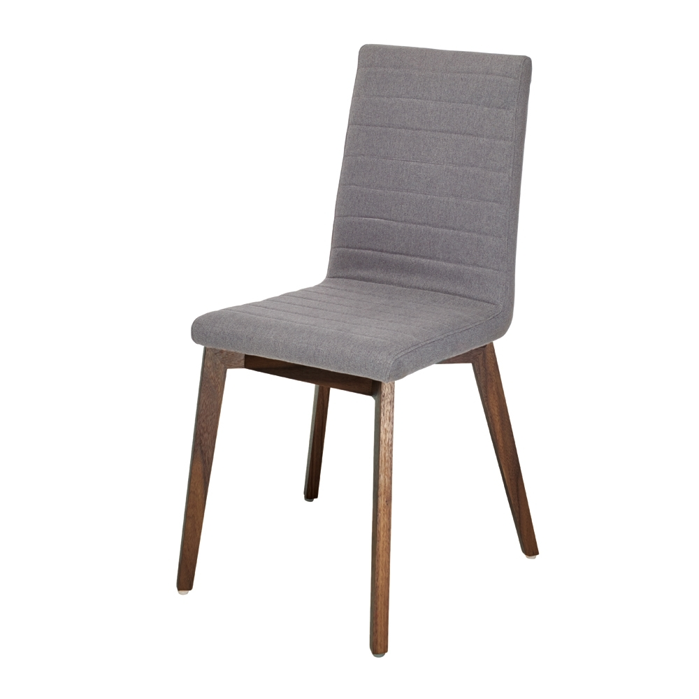 Parquet Dining Chair Fabric Grey – Dwell Regarding Recent Parquet Dining Chairs (View 4 of 20)