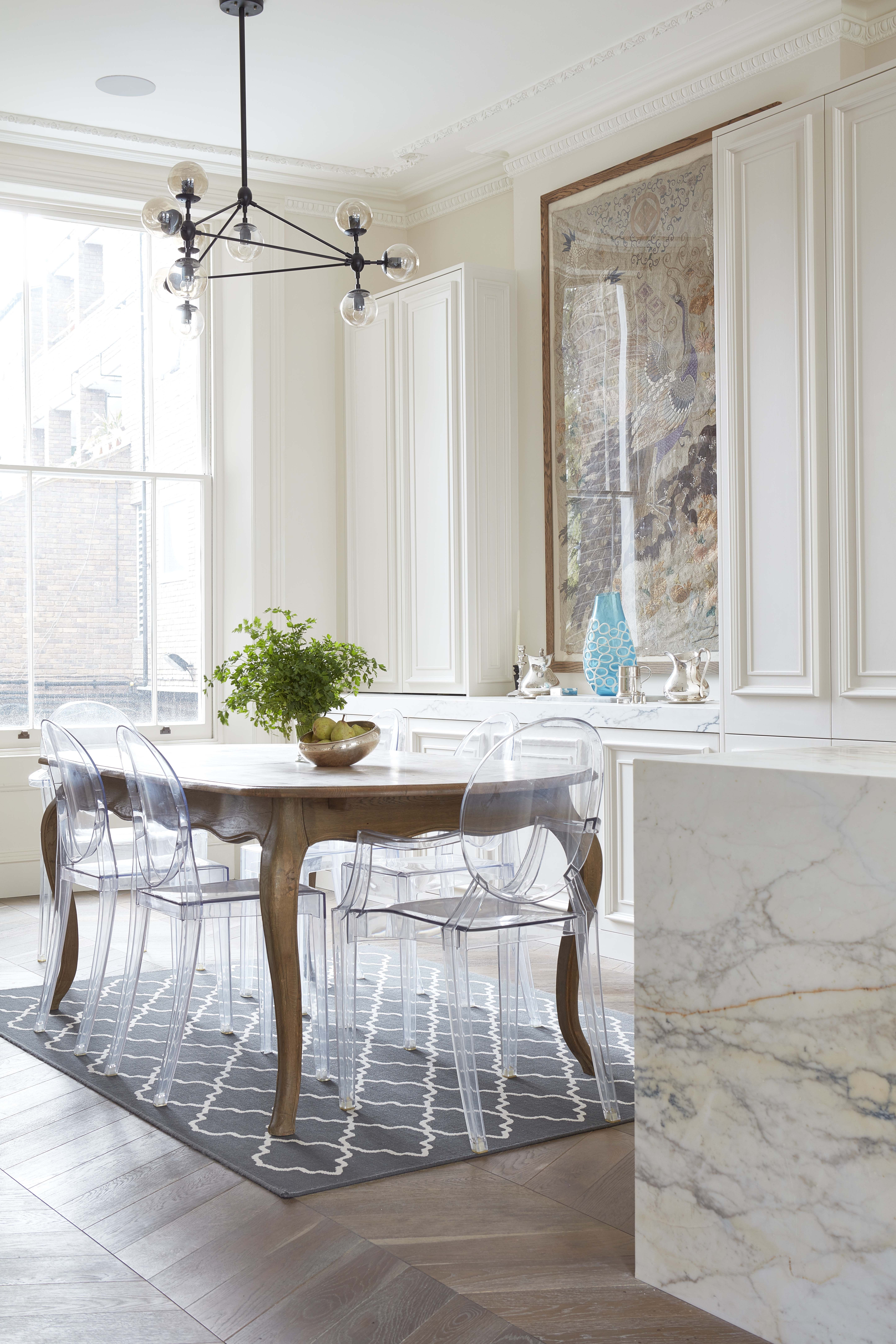 Parquet Dining Chairs Inside Well Liked Modo Chandelier, Panelled Kitchen, Chevron Parquet, Victorian (View 3 of 20)