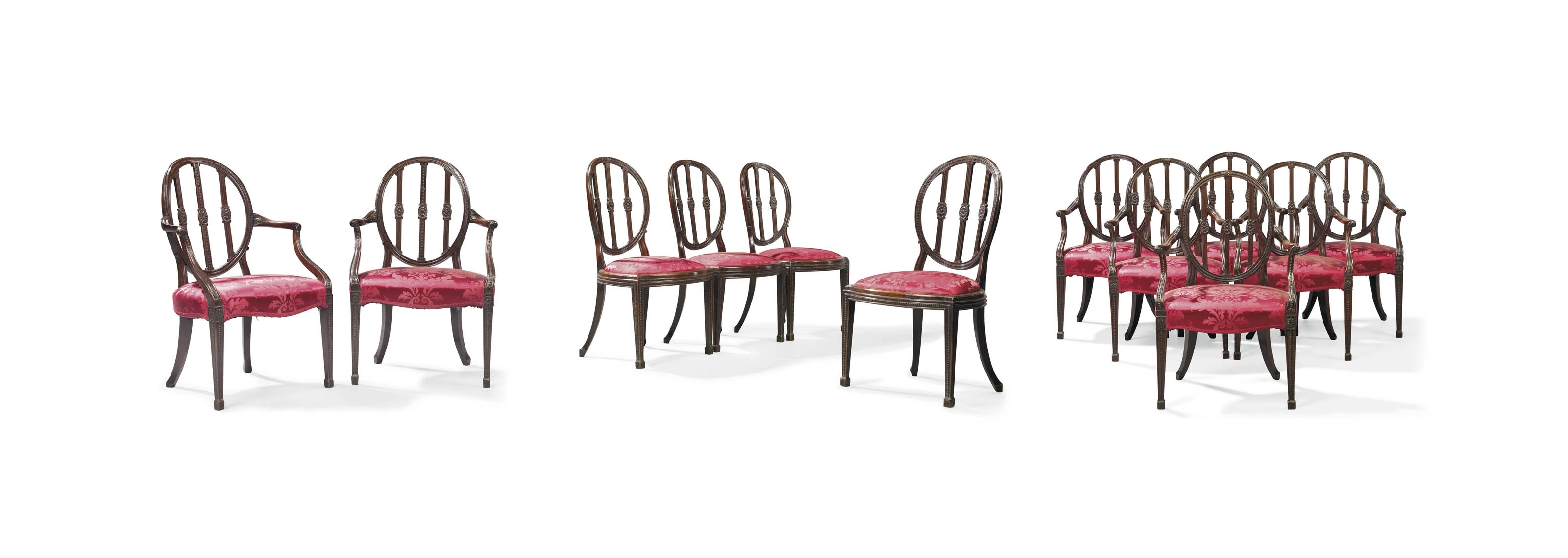 Partridge Side Chairs Throughout Widely Used A Set Of Twelve Mahogany Dining Chairs (View 14 of 20)
