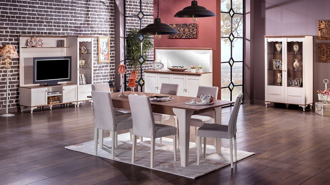 Perla Side Chairs For Popular Perla Dining Room – Istikbal Furniture (View 13 of 20)