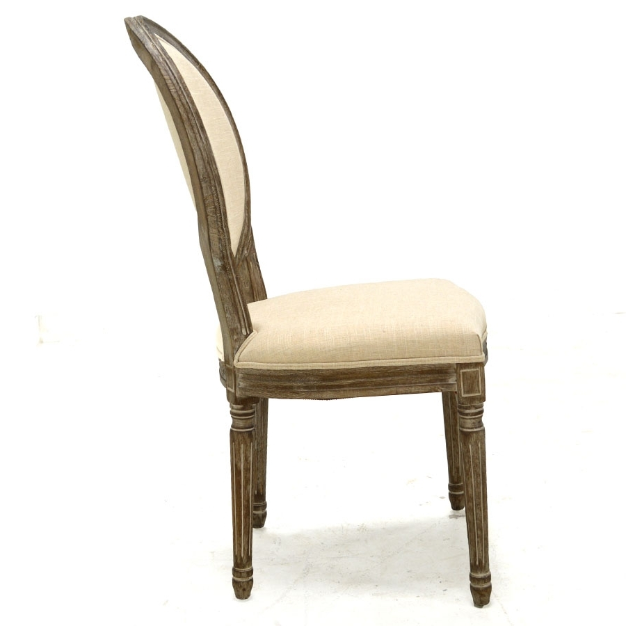 Perla Side Chairs Regarding Most Recent Perla Dining Side Chair, Natural Flax – Home Source Furniture (View 4 of 20)