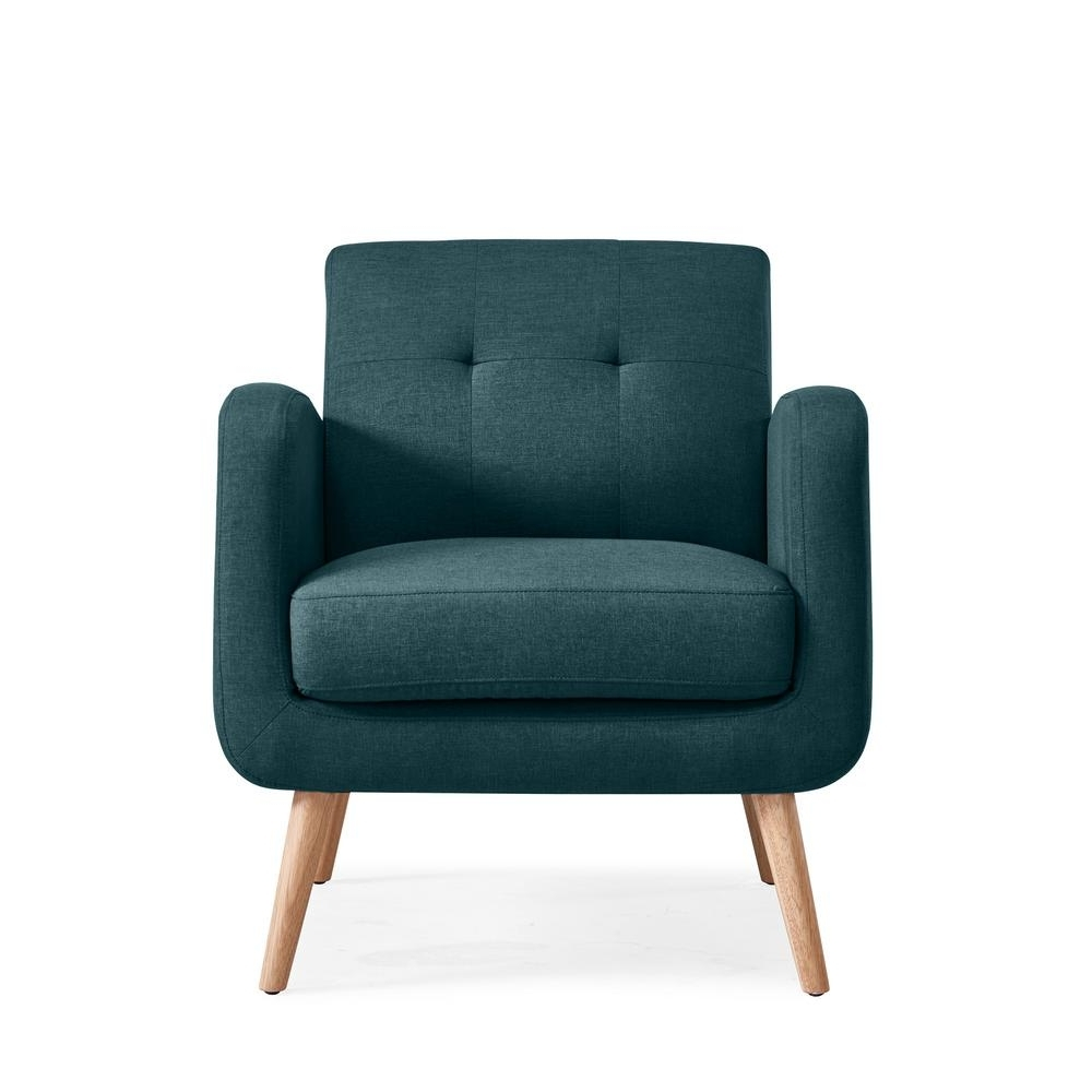 Pilo Blue Side Chairs Intended For Trendy Home Decorators Collection Gordon Blue Leather Arm Chair (View 15 of 20)