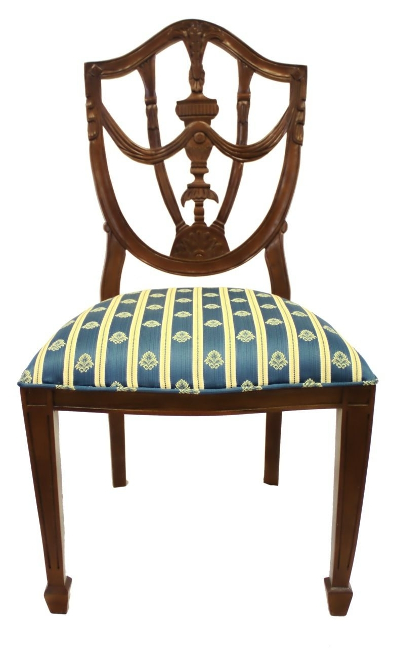 Pilo Blue Side Chairs Throughout Most Up To Date Hand Carved French Style Pila Side Chair With Vanilla, Gold And (View 13 of 20)