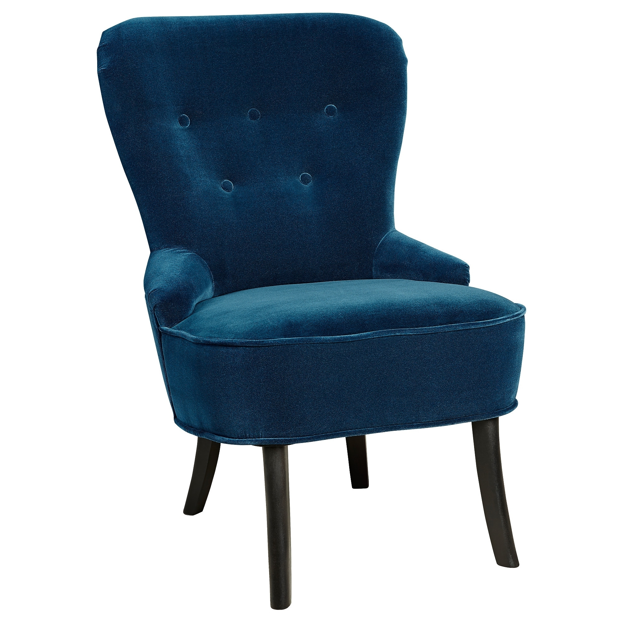 Pilo Blue Side Chairs Within Most Recent Remsta Armchair – Djuparp Dark Green Blue – Ikea (View 3 of 20)