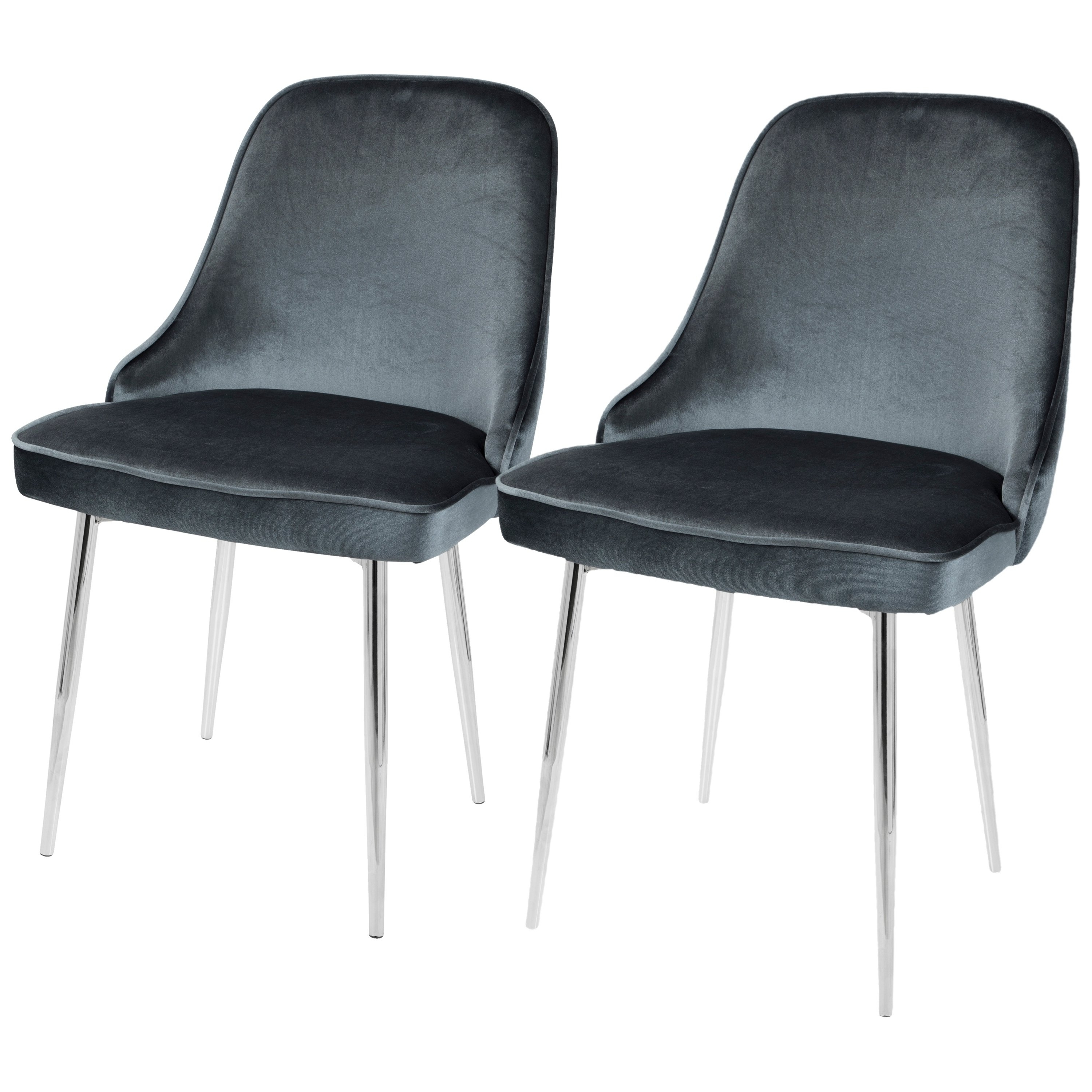 Pilo Grey Side Chairs Regarding Widely Used Shop Lumisource Marcel Contemporary Dining Chair (Set Of 2) – Free (View 15 of 20)