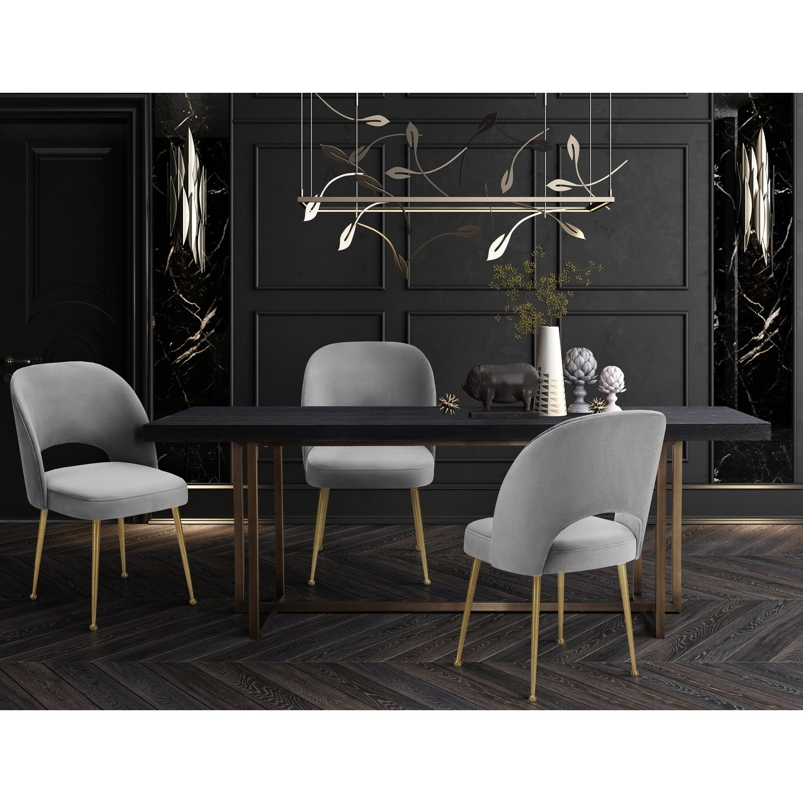 Pilo Grey Side Chairs Within Preferred Shop Swell Light Grey Velvet Chair – Free Shipping Today – Overstock (View 10 of 20)