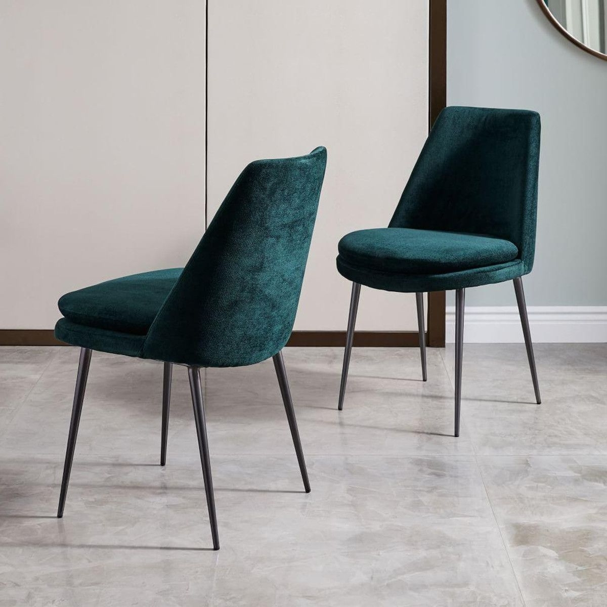 Pinterest Throughout Dark Olive Velvet Iron Dining Chairs (View 10 of 20)
