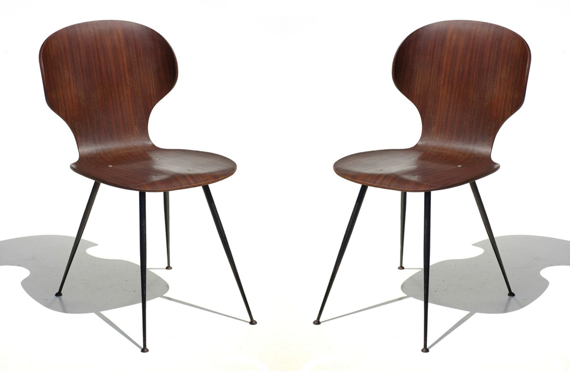 Plywood & Metal Brown Dining Chairs Within Well Known Mid Century Plywood & Metal Dining Chairscarlo Ratti For Lissoni (View 8 of 20)