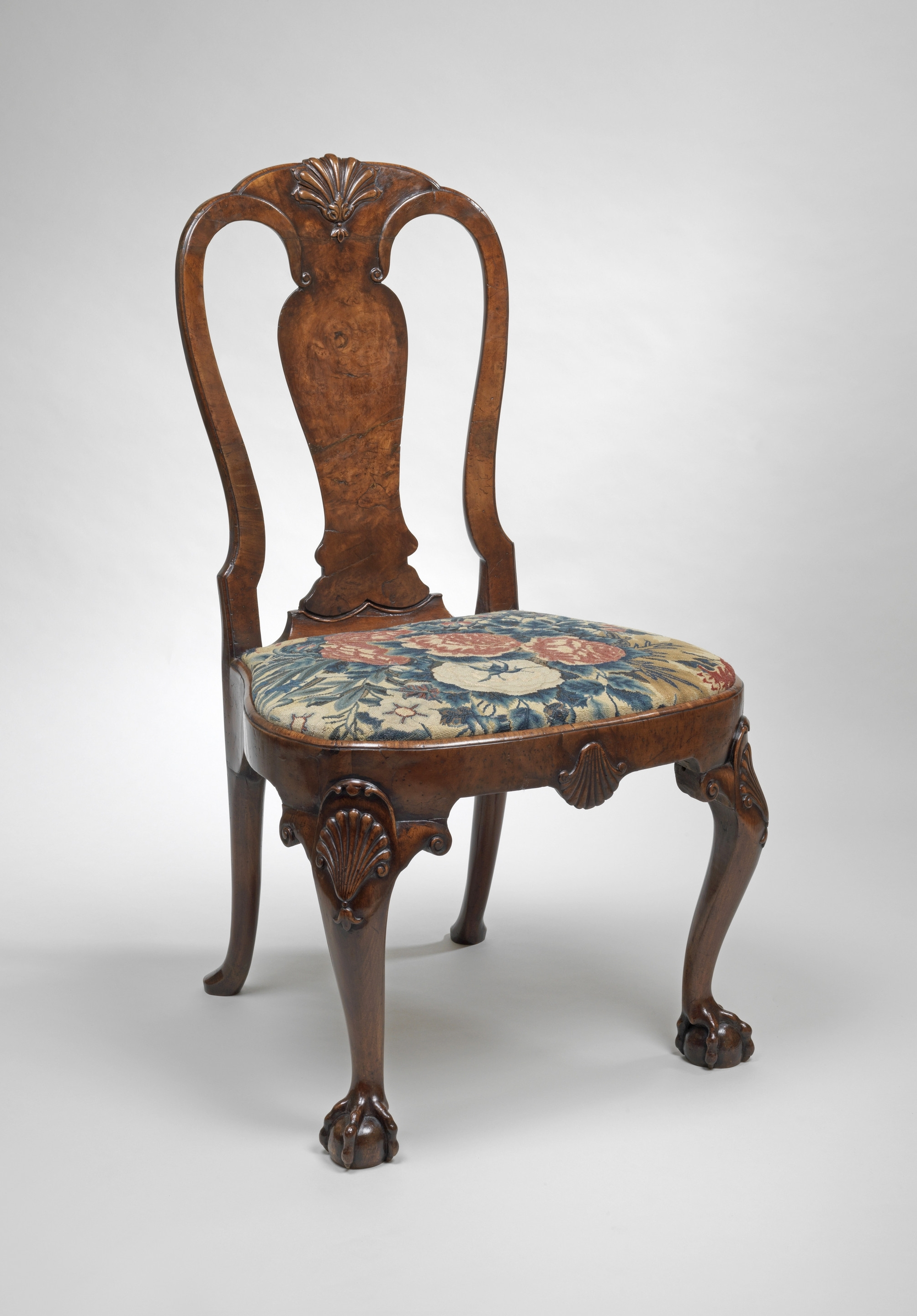 Popular A Pair Of George Ii Burr Walnut Side Chairs (C (View 16 of 20)