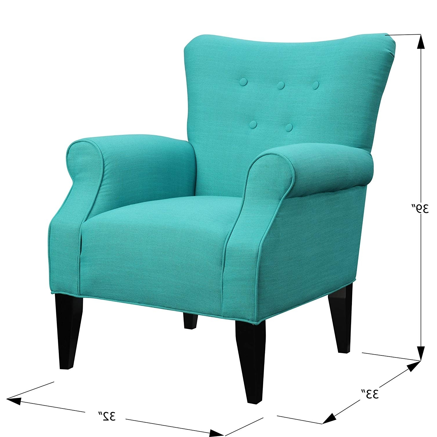 Popular Amazon: Emerald Home Lydia Sensu Mallard Accent Chair With In Mallard Side Chairs With Cushion (View 7 of 20)