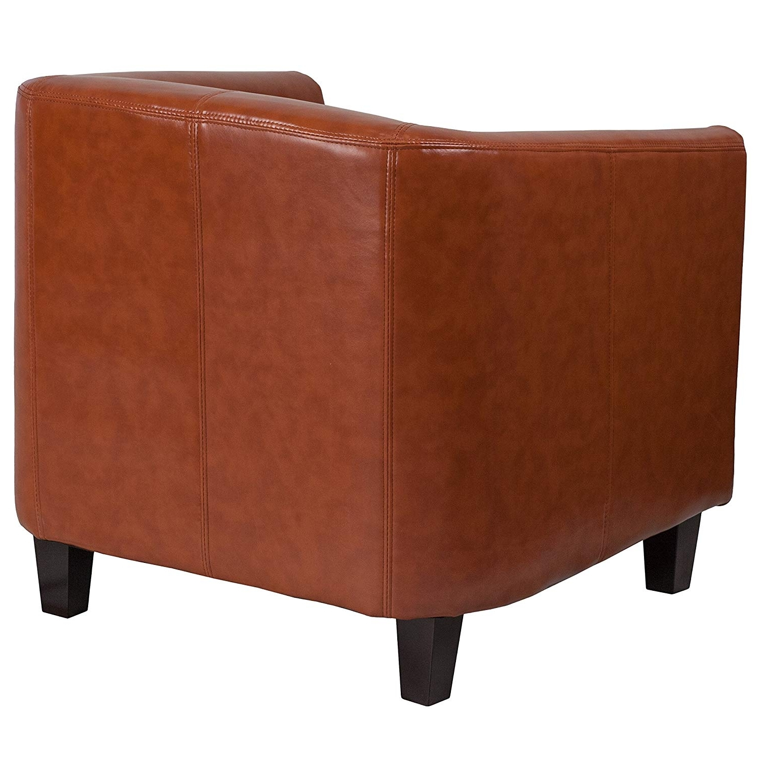 Popular Amazon: Flash Furniture Cognac Leather Lounge Chair: Kitchen Throughout Hayden Cognac Side Chairs (View 16 of 20)