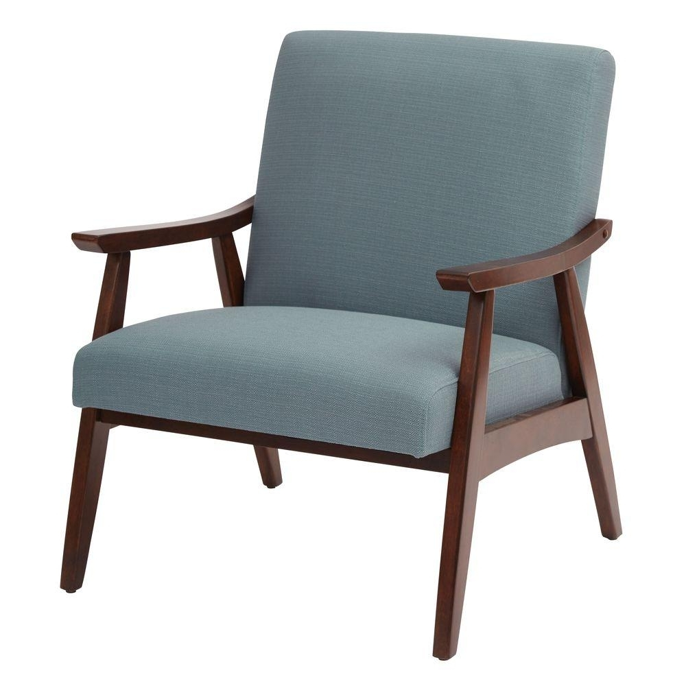 Popular Ave Six Davis Klein Sea Fabric Arm Chair Dvs51 K21 – The Home Depot In Cora Ii Arm Chairs (View 9 of 20)