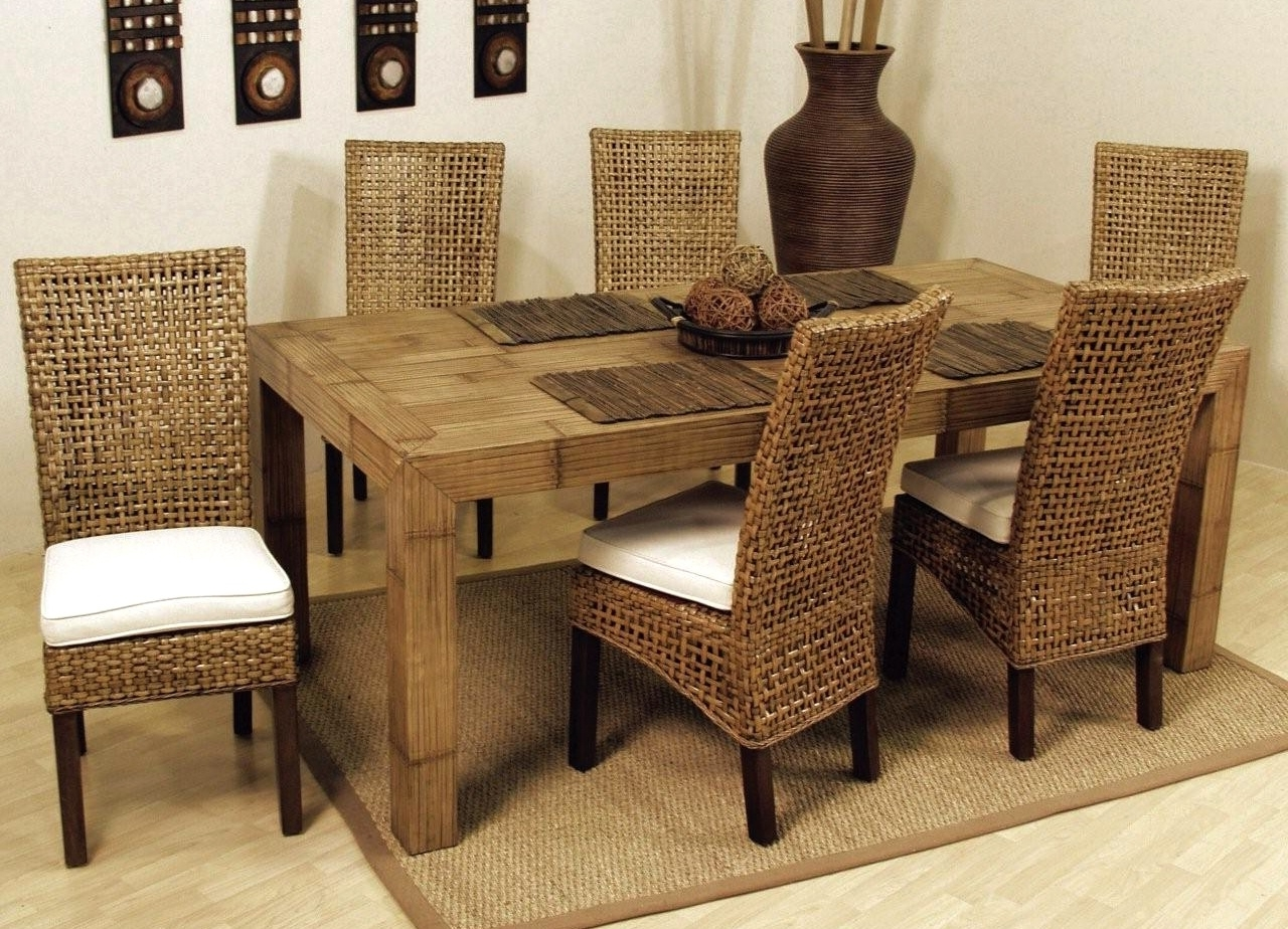 Popular Banana Leaf Chairs With Cushion Throughout Wonderful Indoor Wicker Dining Chairs (View 17 of 20)