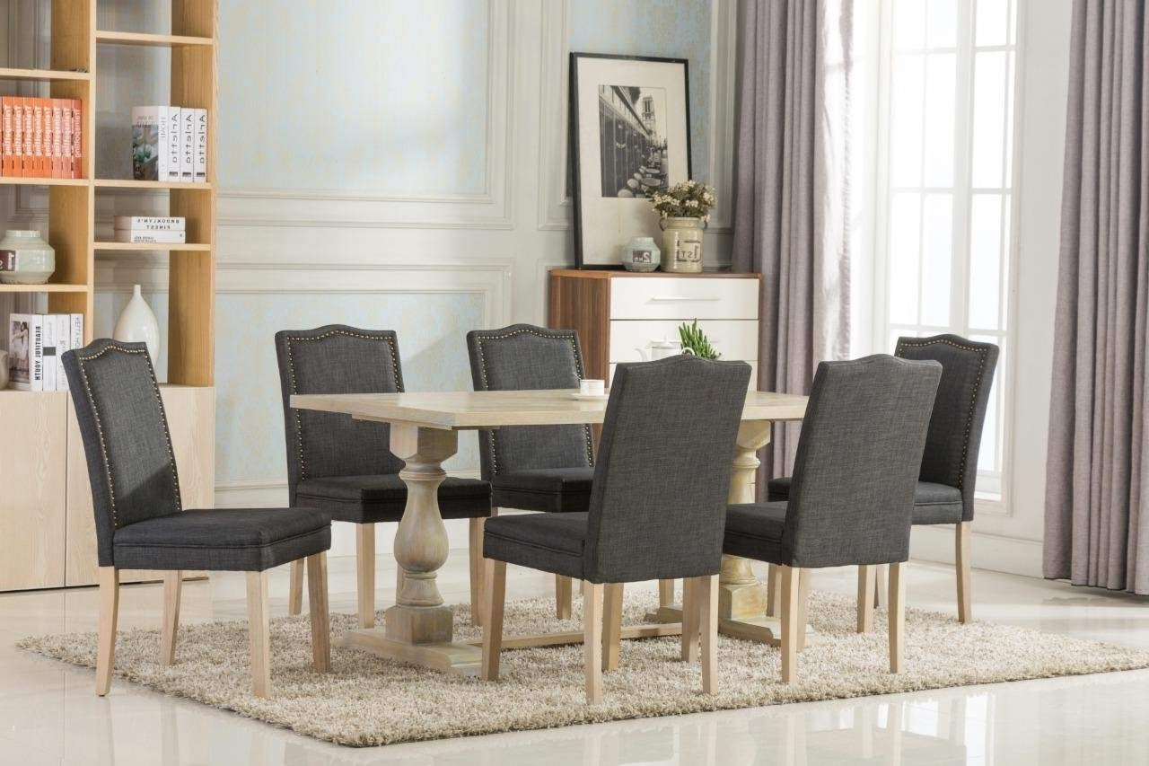 Preferred Alexa Firecracker Side Chairs With Regard To Amazon – Dara 7 Piece Dining Table Set With Chairs 6 Person (View 18 of 20)