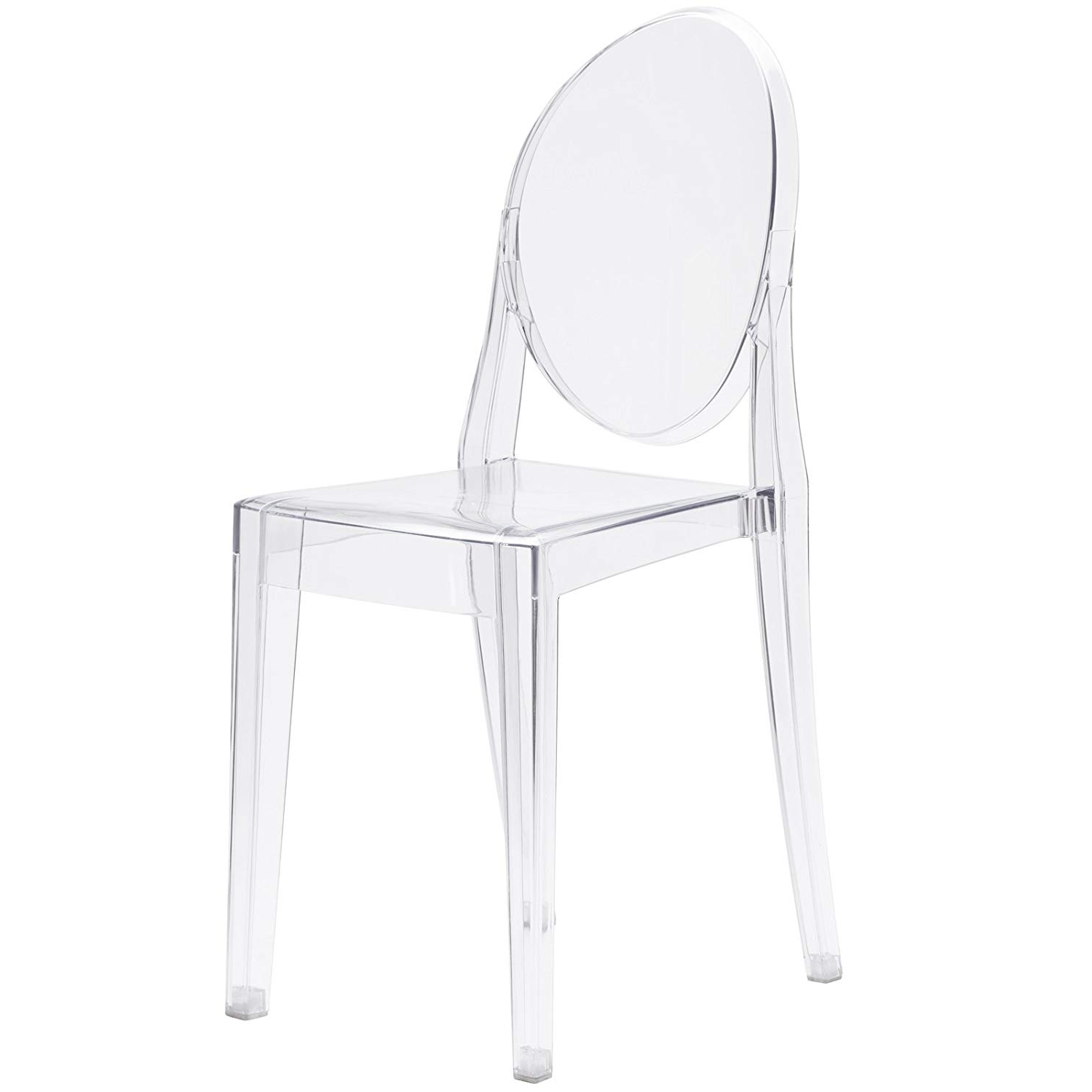 Preferred Amazon: Poly And Bark Burton Side Chair, Clear: Kitchen & Dining In Burton Metal Side Chairs With Wooden Seat (View 16 of 20)