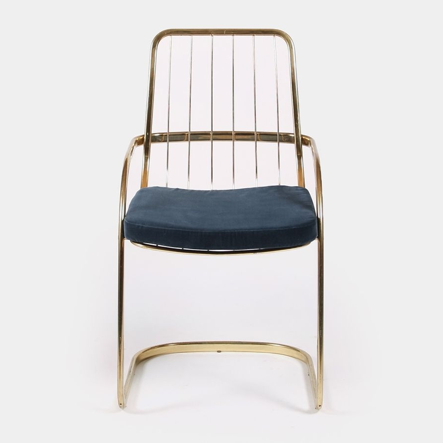 Preferred Brass Cantilever Chairswilly Rizzo, 1970S, Set Of 2 For Sale At Within Garten Marble Skirted Side Chairs Set Of (View 19 of 20)
