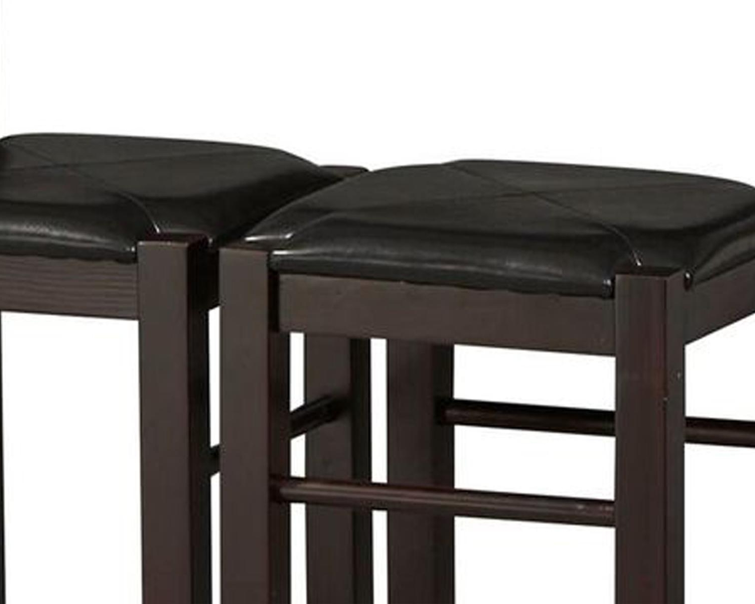Preferred Garten Storm Chairs With Espresso Finish Set Of 2 Regarding Amazon – Linon Tavern Collection 3 Piece Table Set – Table (View 17 of 20)