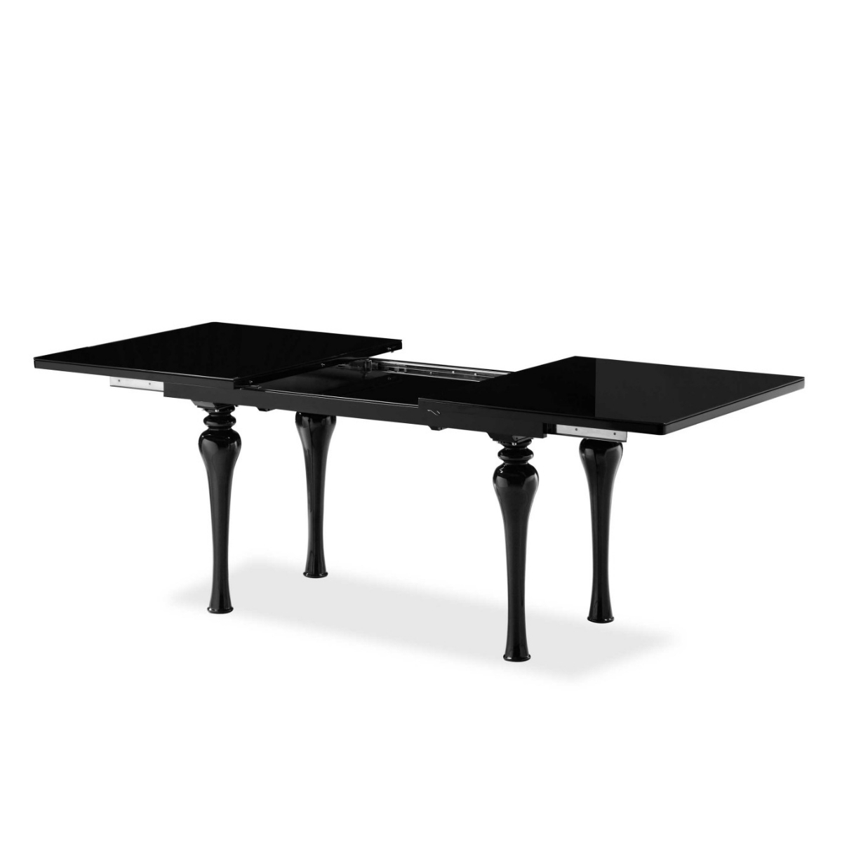 Preferred Laurent Upholstered Side Chairs Pertaining To Laurent Black High Gloss Dining Table – Gloss Furniture (View 11 of 20)