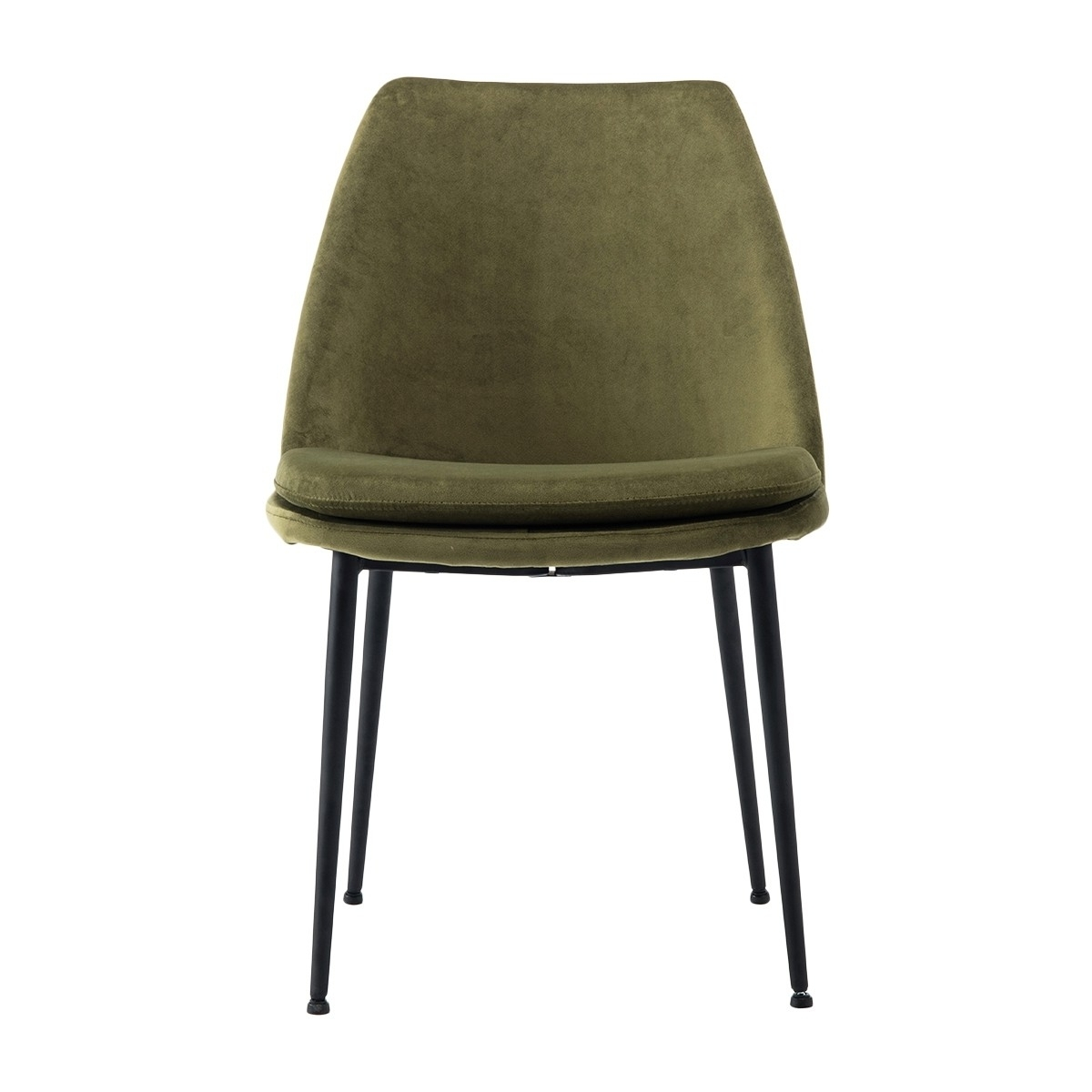 Preferred Life Interiors – Ashton Velvet Dining Chair (black) – Modern Within Dark Olive Velvet Iron Dining Chairs (View 7 of 20)